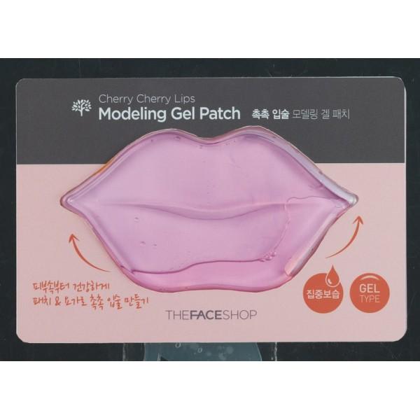 маска для кожи губ гидрогелевая the face shop cherry cherry lips modeling gel patch