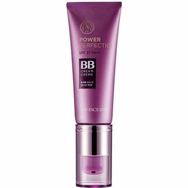 крем бб увлажняющий the face shop power perfection bb cream miniPower Perfection Bb Cream&amp;nbsp;Mini — Обновленная серия кремов «Сила Совершенства» является не только отличным стойким тональным средством, эффективно маскирующим недостатки. Но и обеспечивает уход за кожей 3 в 1: разглаживание морщин, отбеливание и защита от солнца. Протестировано дерматологами.<br><br>Продукт с удобным микро-дозатором, исключающим попадание внутрь воздуха и бактерий, в элегантной упаковке.<br><br>Легко и равномерно ложится, визуально корректирует такие изъяны кожи, как пигментные пятна, веснушки, мелкие морщинки и акне. Обеспечивает уход за кожей, отбеливая и разглаживая ее. Защищает от солнца.<br><br>Варианты:<br><br><br>V103 — Слоновая кость. Теплый оттенок для очень светлых тонов кожи, имеет легкий желтый подтон.<br><br>V201 — Светло-бежевый. Холодный оттенок для светлых тонов кожи, имеет легкий розовый подтон.<br><br>V203 — Натурально-бежевый. Нейтральный натуральный оттенок для светлых тонов кожи.<br><br>V301 — Темно-бежевый. Теплый оттенок загара. Подходит для естественно смуглой кожи и после регулярного посещения солярия.<br><br><br>Крем предназначен для тех, кто предпочитает универсальные продукты, сочетающие в себе средство макияжа, ухода и защиты от ультрафиолета.<br><br>Если вы пользовались кремом до обновления линейки, для вашего удобства список соответствия оттенков:<br><br><br>V201(из новой линейки) соответствует оттенку #01 light beige,<br><br>V203(из новой линейки) соответствует оттенку #02 natural beige.<br><br><br>Основные ингредиенты:<br><br><br>Омега-3 питает кожу, смягчает её и придает упругость.<br><br>Комплекс Vita Skin поддерживает выработку собственного коллагена и обеспечивает антиоксидантный эффект, сохраняя молодость кожи.<br><br>Аденозин в составе ББ-крема способствует разглаживанию морщин.&amp;nbsp;<br><br>Ниацинамид оказывает осветляющее действие и помогает избавиться от пигментации, а также предупреждает появление новой.&amp;nbsp;<br><br>Масло сладк
