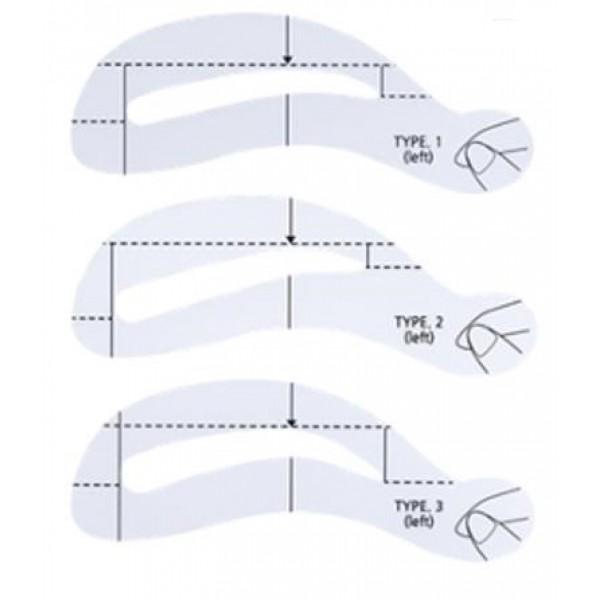 трафарет для бровей the saem eyebrow guideEyebrow Guide. Трафарет для бровей<br><br>Комплект трафаретов, которые помогут сделать макияж бровей идеальным. Три силиконовых трафарета станут великолепными помощниками в ровной и симметричной подкраске бровей.<br><br>Особенно актуально использование комплекта в случае, когда брови жидкие.<br><br>Аксессуар поможет:<br><br><br>Сделать брови более заметными, яркими при помощи соответствующего тинта-тату или специальной туши.<br><br>Легко придать нужную форму, прорисовать контур.<br><br><br>Силиконовый трафарет, плотно прилегая к коже, не соскальзывает, облегчая создание макияжа и безупречной формы бровей. Теперь не стоит беспокоится о том, что тушь будет растекаться, ляжет на волоски неровно и неаккуратно. Используя трафарет можно наилучшим образом прокрасить волоски бровей и сделать это максимально аккуратно.<br><br>Способ применения: Выбрать трафарет нужной формы, приложить его к бровям, прорисовать, придать им форму с помощью туши, карандаша или каким-либо другим средством для создания макияжа бровей.<br><br>Количество:&amp;nbsp;1 шт.<br><br>Вес г: 0.50000000