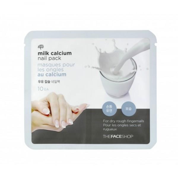 маска для ногтей молочная с кальцием the face shop milk calcium nail packMilk Calcium Nail Pack. Маска для ногтей молочная с кальцием<br><br>Обычно уход за слоящимися и ломкими ногтями проводится специальными лаками и составами, которые наносят непосредственно на ногти под декоративное покрытие.<br><br>Инновационное корейское средство для ухода за ногтевой пластиной и кутикулой – маска в форме мини-перчаток для пальцев, пропитанная экстрактом молозива.<br><br>Молозиво богато молочными протеинами, которые восстанавливают ногтевую пластину, укрепляют ее кератиновый слой, а также содержит кальций, предотвращающий ломкость. Ногти становятся более прочными и устойчивыми к механическим повреждениям, осветляются и приобретают здоровый цвет и естественный блеск, не слоятся и растут быстрее.<br><br>Маска с молочным кальцием и протеинами не только оздоравливает и укрепляет ногтевую пластину, но и увлажняет и размягчает кутикулы, придает им ухоженный вид и облегчает процедуру домашнего маникюра.<br><br>Способ применения:&amp;nbsp;Вымойте руки и очистите их скрабом или пилингом, после этого подсушите кожу полотенцем и откройте упаковку с маской. Наденьте на кончики пальцев 10 мини-перчаток с молочной пропиткой и оставьте их для воздействия на пятнадцать минут.<br><br>Вес: 15 г<br><br>Вес г: 15.00000000