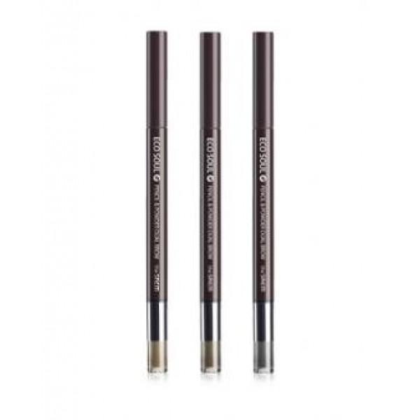 карандаш-пудра для бровей the saem eco soul pencil &amp; powder dual browEco Soul Pencil &amp;amp; Powder Dual Brow. Карандаш-пудра для бровей<br><br>Обладает двойной текстурой – треугольный грифель с натуральным пигментом без труда оставляет четкий контур и естественный оттенок, порошок быстро заполняет пространство между волосками, создавая однородный тон и аккуратную форму бровей.<br><br>Содержит диоксид кремния, благодаря чему впитывает пот и себум и позволяет дольше сохранить макияж.<br><br>Карандаш имеет автоматическое выдвижение и аппликатор с другой стороны для нанесения оттеночного порошка.<br><br>Карандаш не вызывает раздражений и аллергических реакций, не царапает нежную кожу. Им могут пользоваться даже обладательницы сверхчувствительной кожи. Среди ухаживающих компонентов в составе декоративного средства – экстракты полезных растений.<br><br>Возможные оттенки:<br><br><br>01-natural brow<br><br>02-Deep Brown<br><br>03-Black Grey<br><br><br>Применение:&amp;nbsp;Очертите контур бровей карандашом и заполните внутреннее пространство порошком.<br><br>Вес: 0,8 г<br><br>&amp;nbsp;<br><br>Вес г: 0.80000000