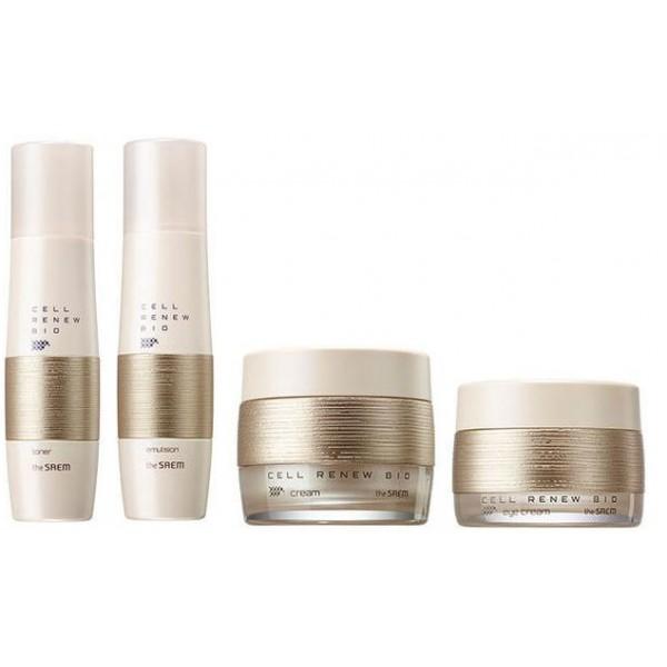 набор уходовый антивозрастной the saem cell renew bio skin care special 3 setCell Renew Bio Skin Care Special 3 Set. Набор уходовый антивозрастной&amp;nbsp;<br><br>&amp;nbsp;<br><br>Уникальная разработка компании The Saem Cell Renew Bio помогает вернуть свежий, сияющий и здоровый вид кожи. Серия средств этой линии способствует обновлению и восстановлению клеток кожи, стимулируют синтез собственного коллагена и эластина, что положительно сказывается на внешнем виде кожи – она заметно подтягивается, становится эластичной и упругой, увлажненной, без шелушений и покраснений.<br><br>&amp;nbsp;<br><br>В составе средств:<br><br>&amp;nbsp;<br><br>Стволовые клетки растений – особая ткань из почек и ростков растений, в которой содержатся инициальные клетки, обладающие уникальным свойством восстанавливать ткани кожи. Стволовые клетки активно противостоят старению, очищают и восстанавливают клетки после перенесенных стрессов, улучшают клеточный метаболизм, поддерживают уменьшающуюся с возрастом выработку коллагена и эластина, повышают тонус кожи и кровеносных сосудов, укрепляют и интенсивно увлажняют кожу, делают ее эластичной.<br><br>&amp;nbsp;<br><br>Минеральная вода – увлажняет, насыщает кожу полезными микро- и макроэлементами, ускоряет обменные процессы, активизирует регенерацию клеток, выводит токсины из организма, тонизирует, освежает и успокаивает кожу.<br><br>&amp;nbsp;<br><br>Ниацинамид (витамин B3) – компонент с доказанной осветляющей эффективностью, значительно снижает следы гиперпигментации: осветляет темные участки кожи, уменьшает покраснения и следы пост-акне. Ниацинамид стимулирует синтез собственных керамидов, восстанавливает барьерную функцию кожи и уменьшает потерю влаги, защищая кожу от обезвоживания.<br><br>&amp;nbsp;<br><br>Аденозин – улучшает макро- и микроциркуляцию крови, ускоряет регенерацию клеток кожи, благодаря чему кожа становится упругой и эластичной, а морщины разглаживаются.<br><br>&amp;nbsp;<br><br>В набор входят:<br><br>&amp;nbsp;<br><br><br>To