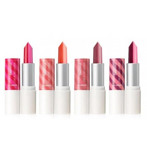 помада для губ двухцветная the saem saemmul half and half lipstickSaemmul Half and Half Lipstick.&amp;nbsp;Помада для губ двухцветная<br><br>Два сочетающихся между собой оттенка, контрастных или же едва различимых, позволяют создать потрясающий макияж с градиентом на губах. Двухцветная помада – это возможность каждый раз получать новые цветовые решения, комбинируя нанесение двух оттенков каждый раз по-разному.<br><br>Приятная текстура обволакивает кожу губ, помада тает на ней и оставляет насыщенный, сатиновый финиш. Помада хорошо распределяется, не оставляет комочков, не проваливается в складочки кожи, не растекается.<br><br>Экстракты лаванды, ромашки и розмарина увлажняют и успокаивают кожу губ, оказывают противовоспалительное и смягчающее действие, ускоряют заживление микротрещин.<br><br>Палитра оттенков:<br><br><br>01. Love You<br><br>02. Want You<br><br>03. Got You<br><br>04. Need You<br><br><br>Способ применения: Нанести помаду на чистую сухую кожу губ.<br><br>Вес: 3,5 г<br><br>Вес г: 3.50000000