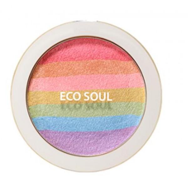 румяна-хайлайтер компактные the saem eco soul prism blusherEco Soul Prism Blusher. Румяна-хайлайтер компактные<br><br>Одна палетка с 7 разными многогранными мерцающими оттенками радуги позволяет каждый раз создавать новый макияж, то еле заметный, дневной, естественный, то более яркий и насыщенный. Сочетание оттенков позволяет выгодно подчеркнуть достоинства, а за деликатным свечением скрыть небольшие кожные недостатки. Комбинируйте и смешивайте оттенки по своему желанию.<br><br>Румяна выполняют не только декоративные функции, но являются и прекрасным уходовым средством.<br><br>Изготовленные по особой технологии румяна очень стойкие, не осыпаются и не размазываются. Ухаживающие компоненты в составе румян позволяют использовать их даже для самой чувствительной кожи – средство не забивает поры, кожа дышит, не возникают раздражения.<br><br>Способ применения: Нанести румяна завершающим этапом макияжа.<br><br>Вес: 8 гр.<br><br>Вес г: 8.00000000