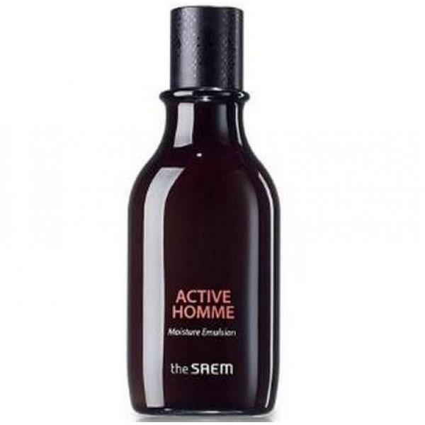 эмульсия для мужской кожи увлажняющая the saem active homme moisture emulsionActive Homme Moisture Emulsion.&amp;nbsp;Эмульсия для мужской кожи увлажняющая<br><br>Мгновенное увлажнение и поддержание оптимального гидробаланса кожи в течение дня, предупреждение появления сухости и шелушений, а также чувство стянутости - основные функции эмульсии для мужской кожи. Кроме того, средство питает и смягчает кожу, обеспечивает ей надежную защиту от негативного воздействия окружающей среды, снимает стресс и усталость, дарит приятное чувство расслабления.<br><br>Аромат дорогого парфюма делает применение средства не только полезным для кожи, но и приятным для души, дарит хорошее настроение.<br><br>В составе средства сбалансированный комплекс натуральных компонентов, среди которых экстракты эвкалипта, кактуса, голубой агавы, мяты, шиповника, тимьяна и др., которые оказывают увлажняющее и успокаивающее, противовоспалительное и регенерирующее действие, приводят к улучшению текстуры кожи, ее&amp;nbsp; выравниванию, улучшают цвет лица.<br><br>При регулярном применении эмульсия нормализует работу сальных желез, предупреждает появление жирного блеска, делает кожу чистой и свежей, более ухоженной.<br><br>Способ применения: Нанести на очищенную кожу лица легкими похлопывающими движениями.<br><br>Объём: 160 мл<br>