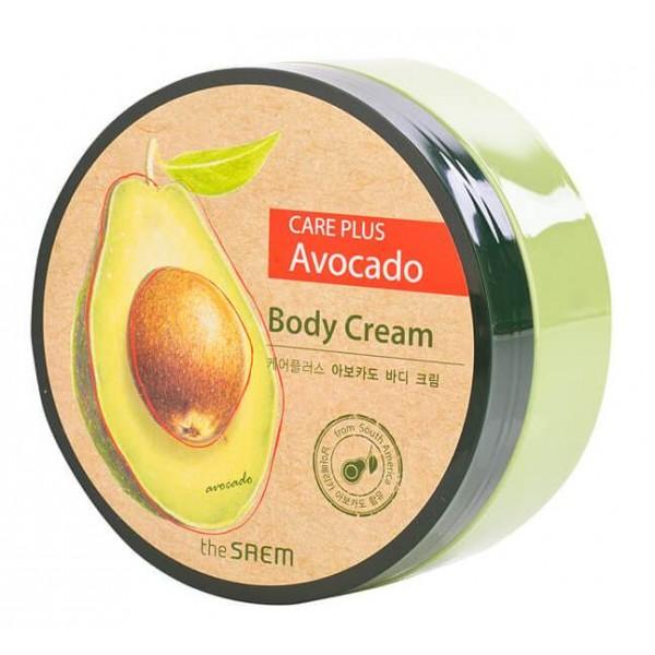 крем для тела с экстрактом авокадо the saem care plus avocado body creamCare Plus Avocado Body Cream. Крем для тела с экстрактом авокадо<br><br>Сливочная текстура крема дарит коже тела роскошный уход, а также окутывает легким фруктовым ароматом. Нежный крем с приятным фруктовым ароматом превратит обычный уход за кожей в настоящее удовольствие. Средство создано специально для ухода за сухой и увядающей кожей. Эффективно смягчает, увлажняет и питает кожу тела, наполняя ее энергией и витаминами.<br><br>Экстракт авокадо обеспечивает полноценное насыщение кожи необходимыми питательными веществами, улучшает кровообращение в коже, обогащает ее ткани кислородом. За счет глубокого проникновения в кожные покровы, стимулирует выработку коллагена и эластина, возвращая коже упругость и эластичность.<br><br>Содержащиеся в авокадо стеролы помогают предотвратить преждевременное старение кожи, образование глубоких морщин и появление возрастных пигментных пятен.<br><br>Также в составе крема экстракт меда, который оказывает благотворное влияние на кожу: смягчает ее, улучшает тургор, восстанавливает эластичности. Мед легко проникает в поры кожи, питает ее и регулирует водный баланс, активизирует обменные процессы в тканях, поддерживает кожу в свежем состоянии и препятствует преждевременному старению.<br><br>При регулярном применении кожа приобретет удивительную нежность, гладкость и эластичность.<br><br>Способ применения: Нанести крем на чистую сухую кожу массажными движениями.<br><br>Объем: 300 мл<br>