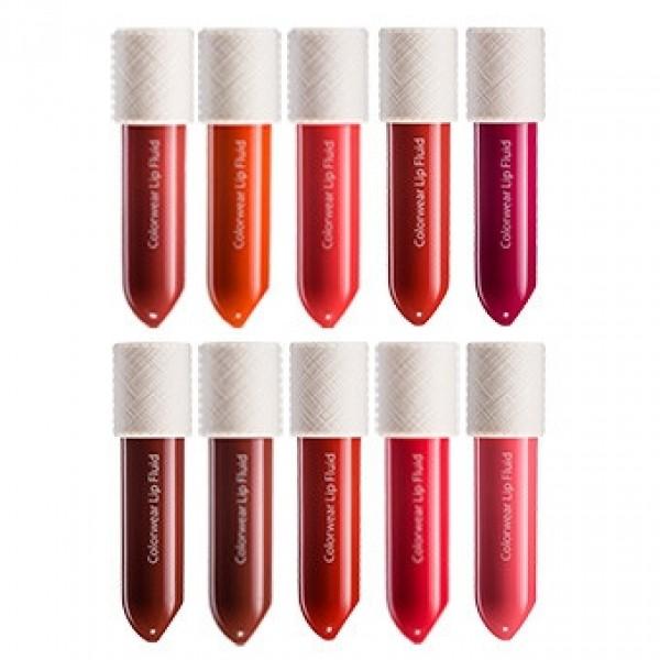 флюид для губ the saem colorwear lip fluidColorwear Lip Fluid.&amp;nbsp;Флюид для губ<br><br>Изумительные оттенки, яркие и сочные, дарит губам флюид от The Saem. Легкая гелевая текстура и интенсивные цветные пигменты создают стойкое покрытие с эффектным глянцевым блеском. Благодаря специальным полимерам губы становятся шелковистыми, визуально смотрятся более объёмными.<br><br>Флюид редставляет собой уникальное средство для губ, сочетающее в себе функции и блеска, и помады. Он имеет масляную текстуру и при этом еще обладает ярким насыщенным цветом. Благодаря такой текстуре губы излишне не сушатся. После нанесения продукта они становятся яркими, сочными и красиво блестят.<br><br>Гиалуроновая кислота в составе тинта увлажняет кожу, успокаивает ее, способствует разглаживанию, устраняет шелушения, а также ускоряет заживление микротрещин.<br><br>Масло сладкого миндаля великолепно питает и смягчает кожу губ, делает ее удивительно нежной и шелковистой.<br><br>Витамин E нейтрализует свободные радикалы, предотвращает повреждения кожи ультрафиолетом, стимулирует синтез коллагена и эластина, препятствует старению кожи, оказывает противовоспалительное действие.<br><br>Палитра оттенков:<br><br><br>BR01 Warm Cocoa<br><br>CR01 Blush Coral<br><br>CR02 Naked Coral<br><br>OR01 Orange Locket<br><br>RD01 More Red<br><br>RD02 Love Fever<br><br>RD03 Propose Red<br><br>PK01 Cherry Pie<br><br>PK02 Lady Again<br><br>PP01 Wine Flavor<br><br><br>Способ применения: При помощи аппликатора нанести флюид на сухую, чистую кожу губ.<br><br>Вес: 3 гр.<br><br>Вес г: 3.00000000