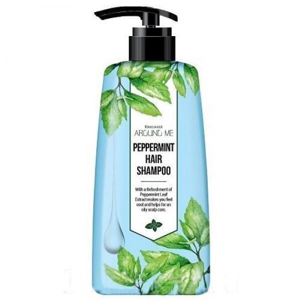 шампунь для волос welcos around me peppermint hair shampooAround Me Peppermint Hair Shampoo. Шампунь для волос<br><br>Серия средств Around Me – новая концепция косметики Вокруг меня. Средства обеспечивают волосы и кожу целебной энергией компонентов, которые находятся вокруг нас. Средства позволяют значительно улучшить состояние волос за счет высокой концентрации активных компонентов и их великолепной восстанавливающей способности.<br><br>Шампунь прекрасно очищает и освежает волосы и кожу головы, так как содержит экстракт мяты перечной.<br><br>Мята перечная активно используется для ухода за волосами, так как обладает уникальными свойствами и помогает вернуть им блеск и шелковистость. Благодаря ментолу в составе мяты, улучшается циркуляция крови в коже головы, укрепляются стенки кровеносных сосудов. Это приводит к тому, что фолликулы волоса получают больше полезных веществ, становятся сильными и упругими. Эфирные масла мяты питают волосы от самых корней до кончиков и защищают их от негативного влияния окружающей среды.<br><br>Шампунь оказывает освежающее и увлажняющее действие, регулирует работу сальных желез, благодаря чему волосы медленнее жирнятся. Регулярное применение шампуня с мятой перечной возвращает безжизненным и поврежденным волосам здоровье и красоту.<br><br>Способ применения: Нанести шампунь на влажные волосы и кожу головы, помассировать, затем тщательно смыть водой.<br><br>Объём: 500 мл<br>