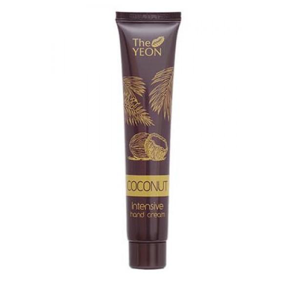 увлажняющий крем для рук с кокосовым маслом the yeon coconut intensive hand creamCoconut Intensive Hand Cream. Увлажняющий крем для рук с кокосовым маслом<br><br>Ультраувлажняющий крем для рук с кокосовым маслом отличается ярко выраженной питательной способностью. Он не только смягчит и увлажнит кожу рук, но и успокоит раздражения, а также поднимет настроение благодаря очень приятной тропической отдушке.<br><br>Крем легко распределяется по коже и полностью впитывается без образования жирной пленки.<br><br>Основные действующие компоненты:<br><br><br>Кокосовое масло - эффективный питательный и увлажняющий компонент. Снимает воспаления, восстанавливает целостность кожи. Защищает от негативных факторов окружающей среды.<br><br>Миндальное масло отличается высокой питательной и антиоксидантной способностью, обладает противовоспалительными и антивозрастными свойствами.<br><br>Пчелиный воск обладает сильнейшими противовоспалительными свойствами, смягчает эпидермис, не забивает поры, ускоряет регенерацию кожных тканей, создает невидимую защитную пленку на коже, снижая вред факторов внешней среды.<br><br>Экстракт манго является источником витаминов А, С и бета-каротина, а также органических кислот и энзимов. Благодаря высокому процентному содержанию действующих веществ, экстракт инициирует активную регенерацию клеток эпидермиса.<br><br><br>Способ применения: Нанесите необходимое количество крема на чистую и сухую кожу рук, вмассируйте и дайте впитаться.<br><br>Объем: 50 мл<br>