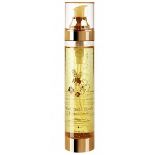 сыворотка с экстрактом меда канола the yeon jeju canola honey essential serumJeju Canola Honey Essential Serum. Сыворотка с экстрактом меда канола<br><br>Многофункциональная сыворотка, содержащая 42% меда канолы, разработана для поддержания идеального гидро-липидного баланса кожи. Средство сочетает свойства тонера, эссенции и сыворотки, предупреждает обезвоживание кожи и потерю влаги и в то же время контролирует работу сальных желез и предупреждает появление жирного блеска – идеальный вариант для поддержания кожи свежей и сияющей.<br><br>Экстракт мёда канолы (рапсовый мёд) эффективно ухаживает за кожей, является одним из немногих продуктов, обладающих способностью на 100% усваиваться кожей. В составе мёда более 300 химических элементов (витамины, минералы, органические кислоты, натуральные ферменты, антиоксиданты, природные антибиотики, простые сахара и др.). Проникая через клеточные мембраны, активные компоненты мёда наполняют клетки энергией, ускоряется деление клеток, активизируются клеточное дыхание и процессы регенерации.<br><br>Также в составе средства экстракты: &amp;nbsp;киви, лимонной травы, брокколи, соевых бобов и другие полезные компоненты, которые вместе создают мощную формулу, оздоравливающую и омолаживающую кожу.<br><br>Способ применения: Нанести на очищенную кожу лица мягкими поглаживающими движениями.<br><br>Объём: 200 мл<br>