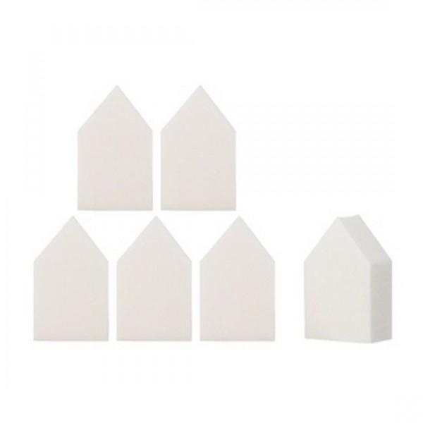 спонж для нанесения макияжа фигурный the saem make-up sponge house 6pMake-up Sponge House 6P. Спонж для нанесения макияжа фигурный<br><br>Фигурный спонж для макияжа позволяет в считанные минуты придать лицу идеальный тон без эффекта маски. Благодаря особой структуре может использоваться для нанесения различных корректирующих средств (тональный крем, рассыпчатая пудра и др.), не вызывая раздражения.<br><br>Его неординарная форма, которая со временем не деформируется, комфортно умещается в руке и помогает без труда покрыть труднодоступные участки лица, впитывая излишки косметики.<br><br>Качественный материал гарантирует длительный срок эксплуатации.<br><br>Способ применения: нанесите косметическое средство на спонж и распределите по лицу. Нуждается в периодической стирке.<br><br>Вес: 5 г<br><br>Вес г: 5.00000000