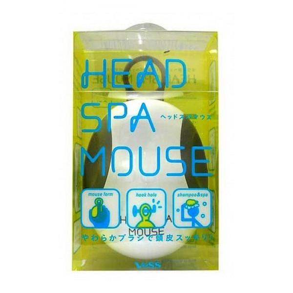 массажёр для кожи головы «компьютерная мышь» vess head spa mouseHead Spa Mouse. Массажёр для кожи головы «компьютерная мышь» - для расслабляющего массажа кожи головы после тяжёлого трудового дня. <br><br>Расслабляющий, не травмирующий кожу головы массаж возможен благодаря мягкому материалу, из которого изготовлены массирующие зубцы, расположенные в несколько уровней (разной высоты), что облегчает скольжение массажёра и повышает эффективность действия. <br><br>Невероятно удобная форма массажёра (в виде привычной каждому формы компьютерной мыши) и держатель для пальца позволяет плотно зафиксировать массажёр в руке, даже не повредив длинные ногти во время массажа кожи головы.<br><br>Держатель предназначен и для удобства хранения массажёра в ванной комнате.<br><br>Способ использования: Используйте во время мытья головы шампунем или применения бальзама. Плавными круговыми, слегка надавливающими, движениями водите массажёр по коже головы с нанесённым на волосы и кожу шампунем или бальзамом. После массажа хорошо ополосните волосы и кожу головы тёплой водой.<br><br>Внимание при использовании: Используйте только для массажа кожи головы. Не используйте при заболеваниях или повреждениях кожи головы. Массируйте плавными лёгкими движениями, избегая сильных надавливаний. Не используйте одновременно с применением средств для укладки или стимулирования роста волос, избегайте воздействия горячего воздуха фена, что может повлиять на качество массажёра. Храните в недоступных для детей местах. Во время использования возможно попадание пены и воды внутрь массажёра. После использования хорошо ополосните массажёр тёплой водой, обсушите на воздухе, без специальных средств для сушки. Часть массажёра с массирующими зубцами при необходимости отделяется от основного корпуса-держателя.<br><br>Состав: Основной корпус - ABS древесная смола, держатель, вставки в основном корпусе, массирующие зубцы - олефиновый эластомер.<br>
