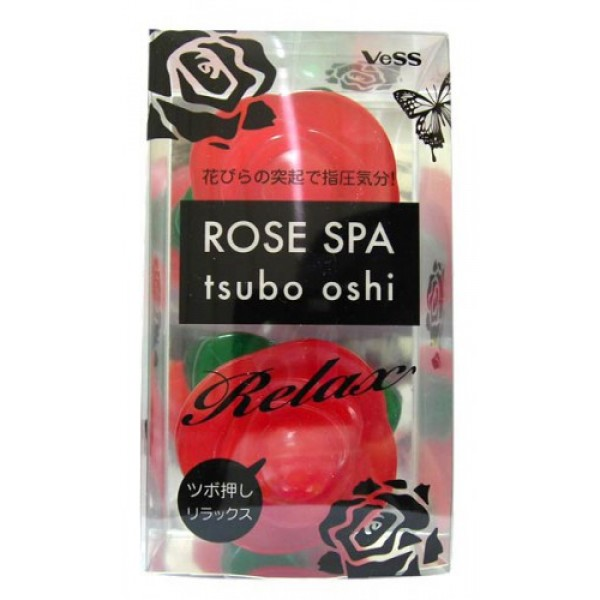 массажер для точечного массажа тела роза vess rose spa tsubo oshiRose Spa Tsubo Oshi. Массажер для точечного массажа тела Роза - применяя массажер, вы ощутите точечное воздействие лепестков роз подобно ощущениям при точечном массаже шиацу.<br><br>Преимущества массажера: возможность расслабляющего точечного массажа когда и где угодно.<br><br>Области использования:<br><br><br>во время приёма ванны (крепятся на внутреннюю поверхность ванны для точечного воздействия на плечи, спину, поясницу, стопы или другие требующие точечного массажа участки тела).<br><br>как элемент дизайна в интерьере ванной комнаты (крепятся на зеркало, кафель и т. д. )<br><br>для точечного массажа стоп (крепятся на пол в комнате для точечного воздействия на стопы)<br><br>для точечного массажа ладоней (сжимаются в руке периодическими надавливаниями)<br><br><br><br>Внимание при использовании: Избегайте слишком интенсивного надавливания. Не используйте при заболеваниях или повреждениях кожи, при особенно чувствительной коже. Крепите на ровные, гладкие, прозрачные (а также зеркальные) не крепите на повреждённые, а также горячие поверхности. В зависимости от средства для приёма ванны цвет присоски может измениться.<br><br>После использования во время приёма ванны обсушите.<br>Храните в недоступных для детей местах.<br>&amp;nbsp;<br>Состав: материал лепестков роз - стирэновый эластомер, материал листьев - AS древесная смола, материал присоски - стирэновый эластомер.<br>