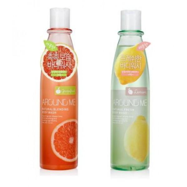 гель для душа welcos around me natural body washAround me Natural Body Wash. Гель для душа<br><br>Южнокорейская марка Welcos предлагает всем любителям экзотических фруктов яркое знакомство с гелем для душа на основе натурального экстракта и масла спелого грейпфрута и лимона.<br><br><br>Around me Natural Blending Body Wash - Гель для душа с экстактом грейпфрута<br><br><br>Средство для повседневного использования превосходно увлажняет кожные покровы, снимает усталость, тонизирует и возвращает коже утраченную упругость.<br><br>Взаимодействуя при встряхивании, жидкая и маслянистая фазы активизируют полезные качества грейпфрута, который не только быстро и приятно очищает покровы, но и безопасно ухаживает за ними. Несколько минут – и кожа насыщена влагой, энергией, она сияет красотой и молодостью!<br><br><br>Around me Natural Fresh Body Wash -&amp;nbsp;Гель для душа с экстактом лимона?<br><br><br>Кроме очищения, биоактивные компоненты геля, превращаясь в пену, мгновенно смягчают покровы, проникая вглубь, они улучшают кровоснабжение тканей, выводят токсины, восполняют дефицит питания и влаги.<br><br>Кисло-сладкий аромат средства не оставит равнодушным и заставит еще не раз насладиться цитрусовым душем.<br><br>Способ применения: Флакон следует встряхнуть, вспенить смешавшиеся фазы средства и нанести пену на влажную кожу, а затем смыть водой.<br>&amp;nbsp;<br>Объем: 300 мл<br>