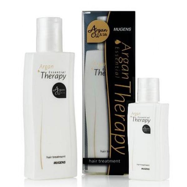 эссенция для волос welcos mugens argan essential therapyMugens Argan Essential Therapy. Эссенция для волос<br><br>Забыть о перхоти, ломкости и выпадении волос, справиться с сухими и секущимися кончиками, вернуть волосам блеск и шелковистость поможет специальная эссенция с аргановым маслом. Средство универсально и подходит для любого типа волос, но особенно рекомендуется для сухих, ослабленных, поврежденных.<br><br>Масло арганы ухаживает за волосами и кожей головы: оказывает питательное и увлажняющее действие, улучшает обменные процессы и ускоряет регенерацию клеток кожи головы, благодаря чему укрепляются волосяные луковицы, восстанавливается поврежденная структура волос, они перестают ломаться и выпадать, исчезают секущиеся кончики. Также масло арганы оказывает легкое противовоспалительное и успокаивающее действие, что положительно сказывается при раздраженной коже головы, исчезают шелушения и перхоть.<br><br>Эссенция имеет легкую, не липкую текстуру, она не утяжеляет и не грязнит волосы, поэтому является комфортным средство для эффективного ухода за волосами.<br><br>Регулярное применение эссенции сделает их сильными, упругими, блестящими и шелковистыми.<br><br>Выпускается в объемах:<br><br><br>60 мл<br><br>160 мл<br><br><br>Способ применения: Нанести на вымытые чуть влажные или уже полностью сухие волосы. Можно использовать только для кончиков.<br>