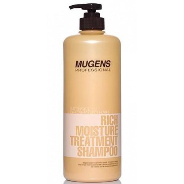 шампунь для волос увлажняющий welcos mugens rich moisture treatment shampooMugens Rich Moisture Treatment Shampoo. Шампунь для волос увлажняющий<br><br>Профессиональная косметика для ухода за волосами в домашних условиях. В основе серии масло арганы, а также уникальный липосомный комплекс Cerasome DDS.<br><br>Корейский шампунь для волос от Welcos – это великолепное сочетание очищающих и уходовых свойств. Интенсивное увлажняющее действие делает шампунь незаменимым для сухих и поврежденных волос.<br><br>Шампунь очищает волосы и кожу головы не только от повседневных загрязнений (например, пыль) и продуктов жизнедеятельности кожи (жир, отмершие клетки, перхоть), но и от вредных веществ, скапливающихся на волосах в течение длительного времени (токсины и другие загрязняющие вещества из атмосферы, химические компоненты других средств для волос).<br><br>Бережное, но глубокое очищение позволяет питательным веществам шампуня проникать и в структуру волоса, и в кожу головы, где эти активные компоненты оказывают мощное восстанавливающее действие. Кроме того, шампунь увлажняет и питает, делает волосы здоровыми, а значит, и более ухоженными.<br><br>Шампунь содержит уникальный липосомный комплекс Cerasome DDS, в составе которого экстракт фускопории, бета-глюкан, керамиды, растительные белки и растительные экстракты. Каждый из этих компонентов благотворно влияет на состояние волос и взаимно усиливает действие остальных компонентов. Комплекс увлажняет и питает волосы, делает их более мягкими и послушными, предупреждает ломкость, запечатывает» секущиеся кончики, оздоравливает.<br><br>Способ применения: Нанести шампунь на влажные волосы и кожу головы, помассировать, затем тщательно смыть водой.<br><br>Объём: 1000 мл<br>