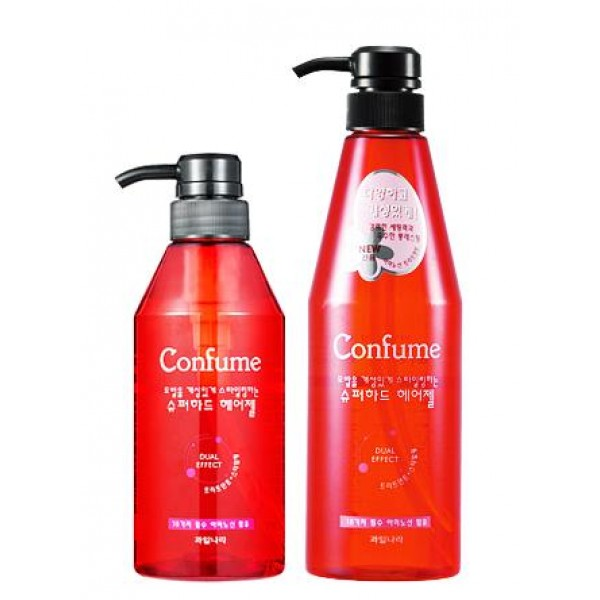 гель для укладки волос welcos confume super hard hair gelConfume Super Hard Hair Gel.&amp;nbsp;Гель для укладки волос<br><br>Для обладательниц тонких и непослушных, густых и жестких, кудрявых и волнистых, длинных и коротких – эффективное средство для укладки волос!<br><br>Гель в бутылочке большого объема, с дозатором, помогает создавать желаемые прически быстро и легко. Средство имеет легкую текстуру, не жирнит волосы и не оставляет липкости, сохраняет естественность прически. После того, как в фиксации прически отпадает необходимость – гель просто и бесследно смывается шампунем.<br><br>Помимо стайлинговых функции гель обладает и уходовыми. Благодаря тщательно подобранному составу, увлажняет и питает волосы, оказывает смягчающее и восстанавливающее действие, обеспечивает защиту от негативных факторов внешней среды.<br><br>Гель не раздражает кожу головы, не провоцирует появление перхоти и аллергических реаций.<br><br>Способ применения: На чистые волосы нанести ряди нанести немного средства, распределить по всей длине и приступить к укладке. Также можно наносить гель на отдельные локоны для формирования прически.<br><br>Объём: 400; 600 мл<br>