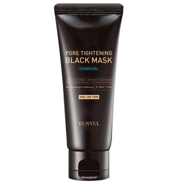 очищающая маска против черных точек eunyul pore tightening black maskPore Tightening Black Mask.&amp;nbsp;Очищающая маска против черных точек<br><br>Очищающая и сужающая поры маска для кожи лица – эффективно очищает кожу лица и поры, удаляет и борется с образованием излишков кожного сала, глубоко очищает поры, удаляет черные точки и загрязнения, отшелушивает омертвевшие клетки кожи, сужает поры и восстанавливает эластичность пор, выравнивает рельеф кожи.<br><br>Основные активные компоненты:<br><br>Древесный уголь - эффективно удаляет излишки кожного сала, нейтрализует и удаляет токсины и бактерии.<br><br>Черный сахар – эффективно удаляет излишки кожного сала и отшелушивает омертвевшие клетки кожи, восстанавливает эластичность пор.<br><br>Экстракт Гамамелиса – успокаивает кожу, удаляет излишки кожного сала и отшелушивает омертвевшие клетки кожи, сужает поры.<br><br>Экстракт плодов Папайи и торфяная вода – сужают поры.<br><br>Белая глина (Каолин) – эффективно удаляет излишки кожного сала и загрязнения, глубоко очищает поры.<br><br>Средство не содержит парабенов, минеральных масел, этанола, искусственных красителей и ароматизаторов.<br><br>Средство особенно рекомендуется к применению для: жирной, комбинированной, проблемной типов кожи.<br><br>Способ применения: на очищенную кожу лица нанести маску, избегая кожи вокруг глаз и губ, выдержать 15-20 мин., снять маску после высыхания, промыть кожу теплой водой.<br><br>Объем: 50 мл<br>