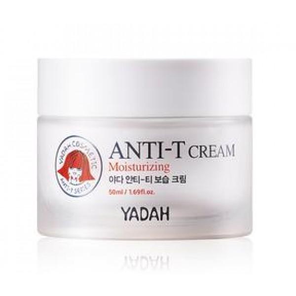 крем увлажняющий для жирной кожи лица yadah anti-t moisturizing creamAnti-T Moisturizing Cream.&amp;nbsp;Крем увлажняющий для жирной кожи лица<br><br>Крем для ухода за проблемной кожей из серии средств Anti-T предназначен для глубокого увлажнения и одновременного контроля за жирностью кожи. Легкая текстура крема освежает и успокаивает кожу, а также создает невидимый, но надежный барьер и обеспечивает защиту от неблагоприятного воздействия окружающей среды.<br><br>Крем с комплексом растительных компонентов нормализует баланс влаги и кожного жира, предупреждая тем самым и появление сухости, шелушения, жирного блеска. Благодаря таким свойствам, крем оказывает профилактическое действие и позволяет избежать возникновения новых проблем кожи из-за забивания пор кожным жиром, в котором хорошо размножаются патогенные микроорганизмы.<br><br>Кроме того, крем оказывает противовоспалительное и регенерирующее действие, благодаря чему кожа оздоравливается, становится более ухоженной.<br><br>Ключевые компоненты крема – экстракт малины и экстракт гаультерии.<br><br>Экстракт корня малины незаменим для ухода за проблемной кожей, а также кожей с расширенными порами. Оказывает увлажняющее и освежающее действие, витаминизирует и минерализирует кожу, улучшает клеточное дыхание и стимулирует рост новых клеток. Обладает выраженным антисептическими и противовоспалительными свойствами, ускоряет заживление угревых высыпаний, способствует очищению и сужению пор.<br><br>Экстракт гаультреии (грушанки) содержит метилсалицилат в высокой концентрации. Данный компонент оказывает выраженное обезболивающее действие, успокаивает раздраженные участки кожи, снижает воспаления и отечность. Кроме того, экстракт гаультерии оказывает питательное и тонизирующее действие, улучшает состояние кожи вокруг пораженных участков, предупреждает появление поста-акне.<br><br>Способ применения: Нанести крем на очищенную и тонизированную кожу после использования эмульсии и/или эссенции.<br><br>&amp;nbsp;<br><br>Объём: 50 м