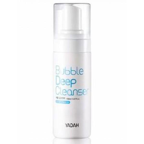пенка кислородная для лица yadah bubble deep cleanserBubble Deep Cleanser.&amp;nbsp;Пенка кислородная для лица<br><br>Невероятно воздушная, невероятно пузырьковая, невероятно очищающая и невероятно увлажняющая! Эта пенка сделает процесс очищения кожи настоящим наслаждением, а дополнительным бонусом станет приятный аромат свежести.<br><br>Пенка способствует глубокому очищению кожи, выталкивает из ее пор все загрязнения, удаляет с поверхности кожи косметику, излишки кожного жира, омертвевшие клетки. Пенка не вызывает появления стянутости или шелушений, поддерживает оптимальный pH-баланс кожи 4,5~6,5.<br><br>Помимо прекрасных очищающих свойств пенка обладает не менее прекрасными уходовыми свойствами, глубоко увлажняя кожу.<br><br>В составе пенки высочайшее содержание натуральных компонентов. Экстракт опунции увлажняет кожу, улучшает кровоснабжение и способствует укреплению стенок капилляров, помогает коже противостоять негативным факторам внешней среды, оберегает от обезвоживания и разрушения ультрафиолетом, тем самым продлевает ее молодость и красоту.<br><br>Экстракт апельсина – источник витамина C, благодаря которому происходит осветление пигментации и выравнивание тона кожи. Природные фруктовые кислоты цитруса способствуют отшелушиванию ороговевших частиц эпидермиса. Кроме того, экстракт оказывают противовоспалительное действие, ускоряет заживление раздражений.<br><br>Способ применения: Нанести пену на влажную кожу лица, помассировать, смыть водой.<br><br>Объём: 150 мл<br>