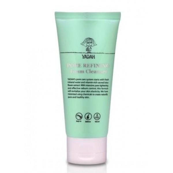 пенка для умывания yadah pore refining foam cleanserPore Refining Foam Cleanser.&amp;nbsp;Пенка для умывания<br><br>Первый шаг на пути к чистым порам, гладкой и ухоженной коже. Пенка способствует глубокому очищению кожи, удаляет с ее поверхности косметику, пыль, кожный жир, отмершие клетки.<br><br>Отличительное свойство данной пенки от многих других - способность удалять все загрязнения и из пор, не оставляя в них ни остатков тональных средств, ни ороговевших частиц эпидермиса, ни себума. То есть, пенка удаляет всё то, что служит отличной средой обитания для патогенных микроорганизмов, провоцирующих появление акне.<br><br>Пенка создана на основе минеральной воды, которая хорошо увлажняет и освежает кожу, повышает ее эластичность и упругость, снимает покраснения и шелушения.<br><br>В составе пенки экстракт хурмы, который выступает в роли природного пилинга, способствует отшелушиванию ороговевших клеток кожи, улучшает обменные процессы, ускоряет процессы регенерации, витаминизирует и тонизирует кожу. Экстракт хурмы сужает поры и улучшает цвет лица, делает кожу свежей и сияющей.<br><br>Также пенка содержит еще целый комплекс натуральных экстрактов, которые усиливают действие хурмы, оздоравливают кожу, разглаживают ее поверхность и повышают эластичность, контролируют работу сальных желез и предупреждают избыточную выработку кожного жира.<br><br>Способ применения: Нанести средство на влажную кожу лица, помассировать, затем умыть лицо водой.<br><br>Объём: 150 мл<br>