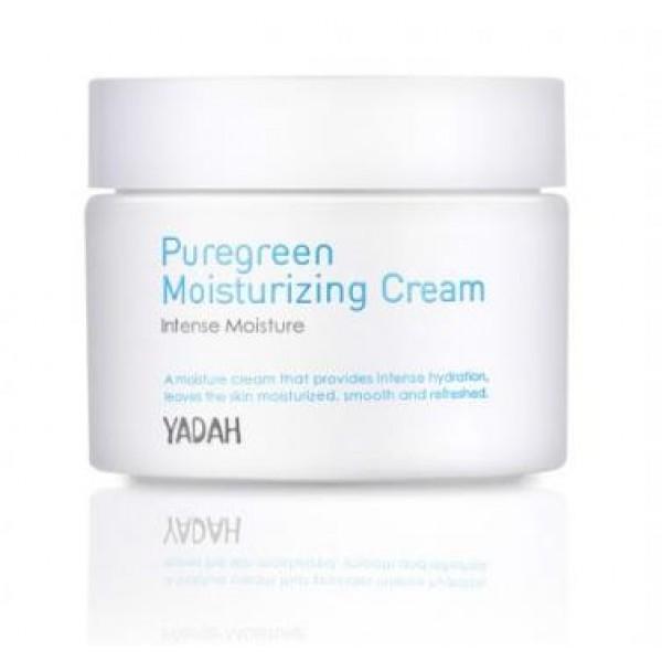 крем для лица увлажняющий yadah pure green moisturizing creamPure Green Moisturizing Cream.&amp;nbsp;Крем для лица увлажняющий<br><br>Неправильное питание, стрессы, недостаток сна, возраст и многое другое становятся причинами того, что собственной влаги коже становится недостаточно, из-за чего она (кожа) становится тусклой, сухой, вялой, появляются морщины.<br><br>Предупредить возникновение этих неприятностей, а также уменьшить уже существующие проблемы помогают средства серии Pure Green Moisturizing. Средства увлажняют кожу снаружи, создавая тонкую дышащую пленку, которая предупреждает испарение жидкости с поверхности кожи. Средства увлажняют кожу изнутри, так как их активные компоненты способны проникать в глубокие слои кожи. Кроме того, средства стимулируют обменные процессы в коже, благодаря чему усиливается собственная естественная гидратация.<br><br>Крем предназначен для интенсивного увлажнения кожи. Он быстро впитывается, обеспечивает длительное увлажнение кожи, устраняет сухость и шелушения, освежает кожу, дарит ей чувство комфорта в течение всего дня.<br><br>В составе крема маточное молочко, масло соевых бобов, а также витаминный комплекс.<br><br>Маточное молочко – настоящее произведение искусства, созданное природой, является биологическим стимулятором, источником углеводов, белков, жиров, аминокислот, фруктозы, глюкозы, витаминов и минералов. Проникая в кожу, маточное молочко мгновенно увлажняет ее, питает, стимулирует регенерацию клеток, усиливает защитные функции кожи, способствует разглаживанию мелких морщин.<br><br>Масло соевых бобов – рекордсмен по содержанию витамина Е, в обеих формах (токоферол и токотриенол), а также источник лецитина, который способствует восстановлению клеток и их защите от разрушения свободными радикалами. Масло сои увлажняет кожу, делает ее мягкой и упругой, помогает разгладить морщинки, а также создает надежный защитный барьер, минимизирующий вред от воздействия ультрафиолета, ветра, загрязнений атмосферы.<br><br>Витаминный к