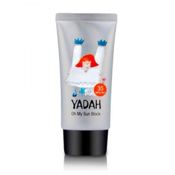 легкий солнцезащитный крем yadah oh my sun blockOh My Sun Block. Легкий солнцезащитный крем<br><br>Солнцезащитный крем для лица и чувствительных участков тела, смягчающий и разглаживающий кожу.<br><br>Имеет успокаивающее воздействие, глубоко питает и увлажняет кожу, прекрасно защищая её от негативного воздействия УФ-лучей.<br><br>Средство имеет солнцезащитный фактор SPF35/PA++.<br><br>Сок алоэ вера увлажняет кожу, оказывая антисептическое и дезодорирующее воздействие. Водный настой ромашки предотвращает появление воспалений, а экстракт цветков кактуса опунции увлажняет кожу, даря ощущение свежести.<br><br>Способ применения: наносите крем на очищенную кожу перед выходом на солнце.<br><br>Объем:&amp;nbsp; 20 мл и 50 мл.<br>