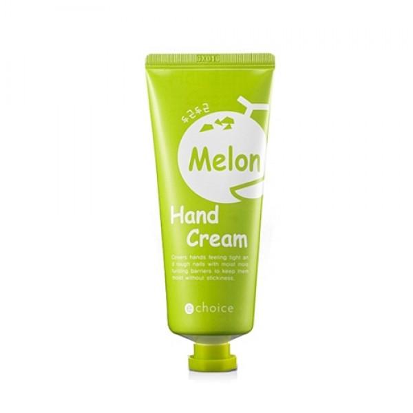 крем для рук с ароматом дыни echoice melon hand creamMelon Hand Cream. Крем для рук с ароматом дыни способствует восстановлению и увлажнению сухой и огрубевшей кожи рук, улучшает кислородный обмен клеток кожи, повышает эластичность и смягчает.<br><br>Содержит экстракты дыни, банана и масло авокадо.<br><br>Термальная вода – вода из горячих источников обеспечивает глубокое увлажнение и оказывает успокаивающее действие.<br><br>Экстракт дыни обладает осветляющим действиемю<br><br>&amp;nbsp;<br><br>Применение: Наносить на сухую, чистую кожу рук.<br><br>&amp;nbsp;<br><br>Состав: Water, Glycerin, Cetearyl alcohol, Mineral Oil, Dipropylene Glycol, Dimethicone, Cyclopentailoxane, PEG-100 Stearate, Glyceryl Stearate, Polysorbate 60, Sorbitan Stearate, Acrylates/C 10-30 Alkyl Crosspolymer, Tieethanolamin, Onsen-Sui, Cucmis Melo (melon) Fruit Extract, Xantham Gun, Butylene Glycol, Adenosine, Musa Spientum (Banana) Fruit Extract, Persea Gratissima (Avokado) Fruit Extract, Disodium EDTA, Methylparaben, Propylparabe, CI 19140, CI 42090, Fragrance<br><br>Вес г: 60.00000000