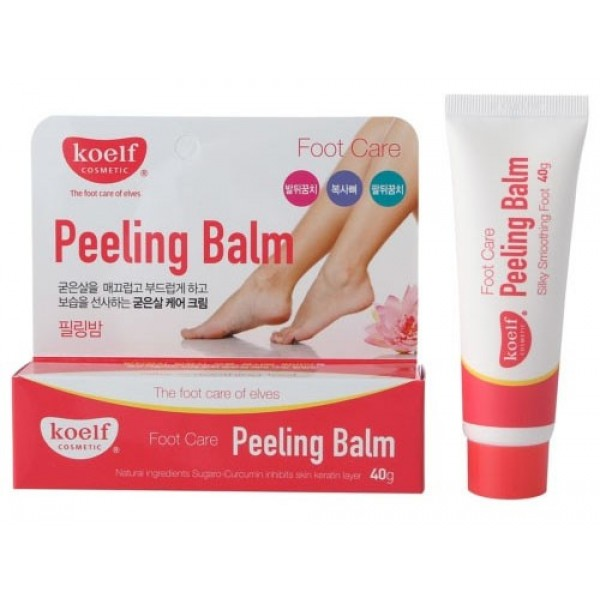 пилинг-бальзам для ног koelf peeling balmPeeling Balm. Пилинг-бальзам для ног<br><br>Средство для домашнего ухода за кожей стоп. Бальзам с эффектом пилинга поможет вернуть и сохранить гладкость кожи, избавит от трещин и натоптышей. Кроме того, средство регулирует потоотделение, оказывает дезодорирующее действие, освежает и снимает усталость ног.<br><br>Бальзам мягко отшелушивает ороговевшие клетки кожи, а их место занимают новые клетки, таким образом, кожа обновляется безболезненно и естественным путем.<br><br><br>Мочевина – органическое соединение, играет роль поддержания здорового баланса влаги. Является природным эксфолиантом и действует как отшелушивающее средство, удаляет мертвые клетки и грязь с рогового слоя кожи, улучшает оборот клеток в эпидермисе. Оказывает антибактериальное, противовирусное и противомикробное действие. Обладает хорошими гигроскопичными свойствами, способна поглощать и удерживать влагу, тем самым предупреждая обезвоживание кожи. Кроме того, помогает клеткам восстанавливаться и обновляться, ускоряет процесс заживления кожных повреждений.<br><br>Молочная кислота – абсолютно физиологичная для кожи AHA кислота, так как она присутствует в роговом слое кожи и является одним из компонентов натурального увлажняющего фактора. Молочная кислота может использоваться для пилинга даже самой чувствительной и склонной к раздражению кожи.<br><br>Салициловая кислота оказывает противовоспалительное, отшелушиваюшее и кератолитическое действие, обладает сильнейшим антибактериальным эффектом, поэтому эффективно справляется с лечением акне, растворяет кожный жир в порах; ускоряет регенерацию кожи.<br><br>Аллантоин способствует заживлению поврежденных тканей, так как после его нанесения запускаются процессы быстрой регенерации клеток, одновременно с этим аллантоин снимает болевые ощущения, что очень важно для раздраженной кожи. Кроме того, в составе косметики этот компонент способствует размягчению рогового слоя и удалению отмерших клеток.<br><br><br>Также в сост