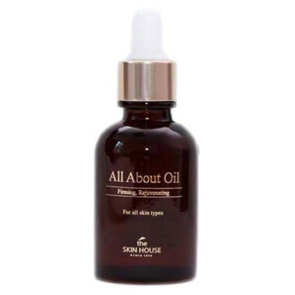 увлажняющее масло-сыворотка the skin house all about oilAll About Oil Увлажняющее масло-сыворотка<br><br>В составе косметического масла для повышения упругости исключительно натуральные ингредиенты.<br><br>Масло содержит:<br><br><br>витамины Е и А, незаменимые при увядании дермы. Продлевает молодость, возвращает эластичность.<br><br>мононенасыщенные жиры значительно улучшают состояние. Помогает удержать влажность, не забивает поры. Усиливает клеточную регенерацию, омолаживает.<br><br>пенник луговой восстанавливает и увлажняет, создает защиту от ультрафиолетовых лучей.<br><br>шиповник приостанавливает клеточное увядание, нормализует окислительные процессы в тканях. Содержит множество витаминов и микроэлементов, важных для здоровья. Высокое число антиоксидантов замедляет старение и разглаживает морщинки. Стимулирует вырабатывание коллагена, оказывает антимикробное воздействие.<br><br>макадамия снимает воспаления, насыщает влагой. Проводит питательные компоненты в глубинные слои, мощный антивозрастной продукт.<br><br>эму заживляет ранки, питает. Усиливает регенерацию, омолаживает. Ранозаживляющее и противовоспалительное действие. Существенно уменьшает количество и глубину морщин, предотвращает появление новых. Способствует улучшению при лечении кожных заболеваний и после операций. Лечит угри и экзему. Убирает растяжки, дарит упругость. Спасает при солнечных ожогах.<br><br><br>Подходит для:&amp;nbsp;чувствительная, проблемная, обезвожженная кожа.<br><br>Способ применения: нанести необходимое количествово на очищенную кожу, дать впитаться.<br><br>Объем: 30 мл<br><br>&amp;nbsp;<br><br>&amp;nbsp;<br>