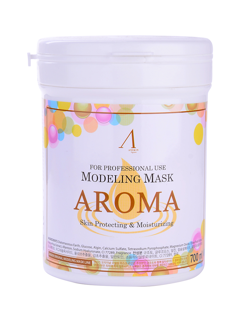 маска альгинатная антивозрастная питательная anskin aroma modeling mask / container