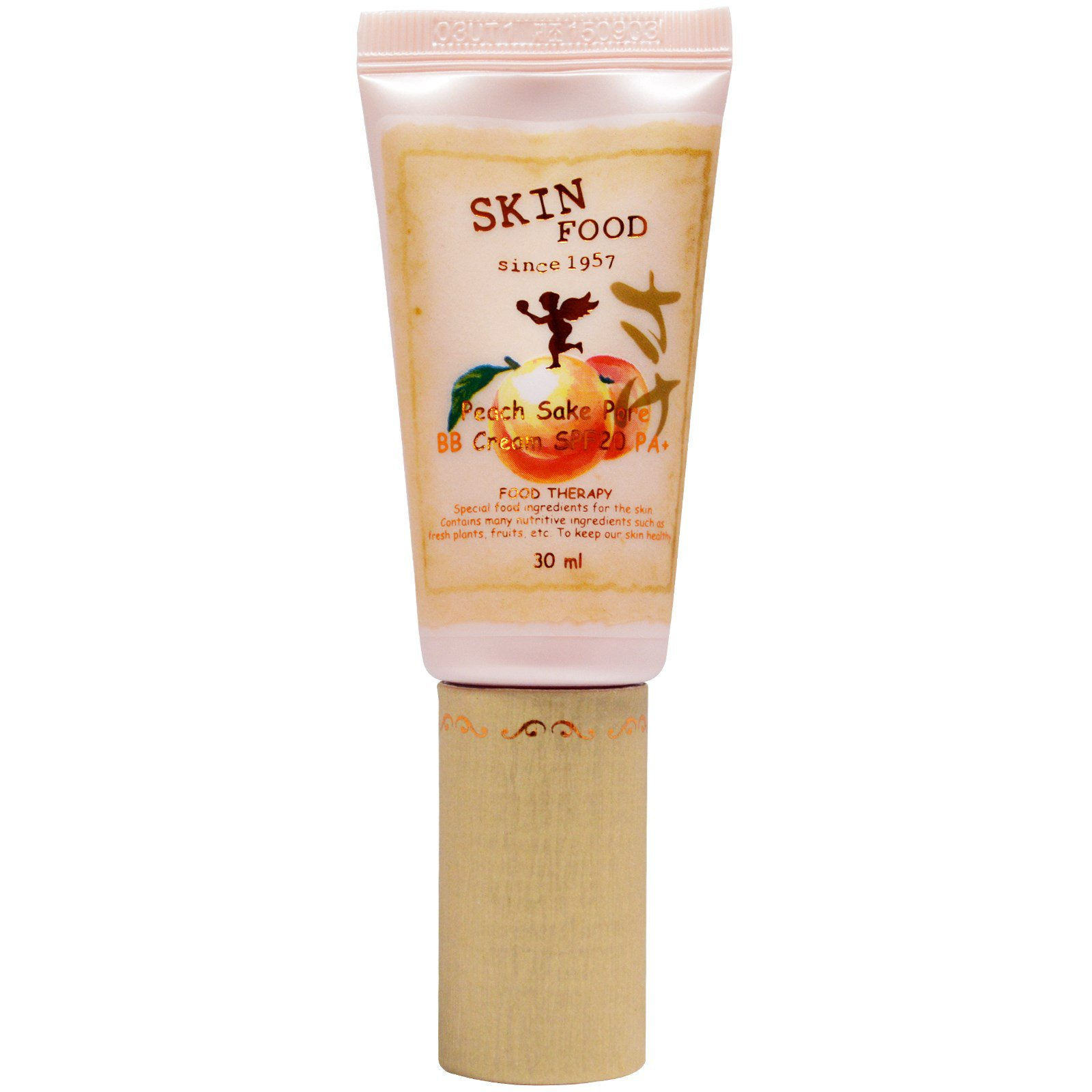 крем бб skin food  peach sake bb creamЛегкий ВВ крем Peach Sake Bb Cream,&amp;nbsp;который, наиболее подходит для проблемной кожи, жирной и комбинированной. Содержит экстракт риса и экстракт персика. Также в его составе аминокислоты и витамины А и С.<br><br>Экстракт риса оказывает легкое отбеливающее действие, выравнивает тон лица, устраняет потемнения и пигментные пятна.<br><br>Экстракт персика насыщает влагой, витаминами необходимыми для восстановления клеток кожи.<br><br>Крем Skinfood прекрасно сужает поры, снижает интенсивную деятельность сальных желез, поглощает лишний жир, придает коже привлекательный ровный матовый оттенок.<br><br>ВВ крем достаточно стойкий, обеспечивает незаметное флюидное покрытие, адаптируется под цвет и тон кожи. Лицо приобретает свежий вид.<br><br>Крем не только надежно скрывает несовершенства и дефекты кожи, но и успокаивает, снимает раздражение, устраняет красноту.<br><br>ВВ крем имеет минимальную плотность, поэтому отлично подойдет для тех, кто не любит плотные покрытия.<br><br>Текстура крема легкая и мягкая, он ровно ложиться, обеспечивает равномерное покрытие, прекрасно адаптируется, впитывается быстро и без остатка не утяжеляет и не стягивает кожу, не дает неестественного неприятного блеска.<br><br>Выпускается в 2 вариантах:<br><br><br>#1 Peach Sake Bb Cream Light Beige - светло-бежевый<br><br>#2 Peach Sake Bb Cream #2 Natural Beige - натуральный бежевый<br><br><br>Способ применения: Наложить крем в достаточном количестве, распространить по поверхности кожи, равномерно массируя пальцами, подождать пока крем впитается в кожу полностью.<br><br>Объем: 30 мл<br>