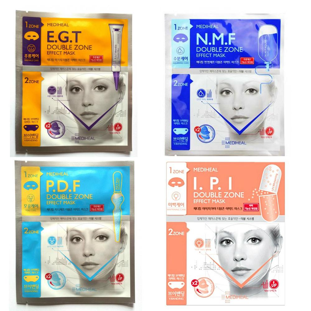 маска для лица двухзональная beauty clinic double zone effect maskDouble Zone Effect Mask. Маска для лица двухзональная<br><br>Маска ухаживает сразу за двумя зонами кожи лица.<br><br>Продукт прошел дерматологическое тестирование.<br><br><br>E.G.T Double Zone Effect Mask. Маска для лица с лифтинг – эффектом с EGT<br><br><br>Разглаживает морщины в верхней части лица, замедляет процесс старения и подтягивает V-зону, делая ее более упругой и эластичной.<br><br>Маска решает 2 задачи:<br><br>1. Лифтинг верхней части лица, в том числе зоны вокруг глаз<br><br>Маска разглаживает морщины, возвращает упругость и эластичность коже, увлажняет. Верхняя часть маски на основе целлюлозы плотно прилегает к коже, обеспечивая глубокое проникновение питательных веществ. Кожа выглядит подтянутой, молодой и здоровой.<br><br>Эссенция, которой пропитана маска, содержит такие эффективные компоненты как EGF, гидролизованный коллаген, астаксантин, аскорбилфосфат натрия (витамин С).<br><br>EGF (Epidermis Growth Faсtor) - фактор роста эпидермиса, регенерации клеток. EGF замедляет процесс старения кожи; способствует обновлению клеток эпидермиса, сохраняя молодость кожи; защищает кожу от повреждений и раздражений; улучшает цвет лица.<br><br>Астаксантин – мощный антиоксидант.<br><br>Экстракт центеллы азиатской стимулирует синтез коллагена, заживляет мелкие ранки и трещины, улучшает состояние и цвет кожи.<br><br>2. Восстановление V- зоны, лифтинг – эффект<br><br>Нижняя часть маски (гелевая) предназначена для повышения упругости кожи в области подбородка. Содержит гидролизованный коллаген, аденозин и другие компоненты, которые придают коже упругость и эластичность. Специальная запатентованная форма маски, которая крепится за уши, подтягивает кожу и корректирует линию подбородка.<br><br><br>N.M.F Double Zone Effect Mask. Маска для лица увлажняющая с NMF<br><br><br>Увлажняет кожу верхней части лица, а также подтягивает V-зону, делая ее более упругой и эластичной.<br><br>Маска решает 2 задачи:<br><br>1.