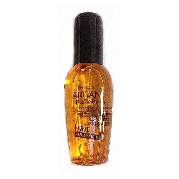 эссенция для волос с аргановым масломArgan Therapy Hair Essence. Эссенция для волос с аргановым маслом<br><br>Естественное сияние, шелковистость, упругость поможет вернуть волосам специальная оздоравливающая эссенция с аргановым маслом. Подходит для любого типа волос, но особенно рекомендуется для сухих, тонких, ослабленных и поврежденных.<br><br>&amp;nbsp;<br><br>Масло арганы позволяет значительно улучшить как внутреннее состояние волос, так и их внешний вид. Оказывает интенсивное питательное и увлажняющее действие, восстанавливает структуру волос, стимулирует их рост и предупреждает выпадение, устраняет секущиеся кончики, защищает от пагубных ультрафиолетовых лучей.<br><br>&amp;nbsp;<br><br>При регулярном применении эссенции с маслом арганы можно забыть о выпадении волос, об их сухости и ломкости. Волосы становятся сильными и упругими, гладкими, блестящими и шелковистыми, лучше держат прическу при высокой влажности воздуха.<br><br>&amp;nbsp;<br><br>Средство с легкой текстурой, хорошо распределяется по волосам, не жирнит и не утяжеляет их.<br><br>&amp;nbsp;<br><br>Способ применения: Нанести на чистые сухие или чуть влажные волосы, особое внимание уделяя кончикам.<br><br>&amp;nbsp;<br><br>Объём: 80 мл<br>
