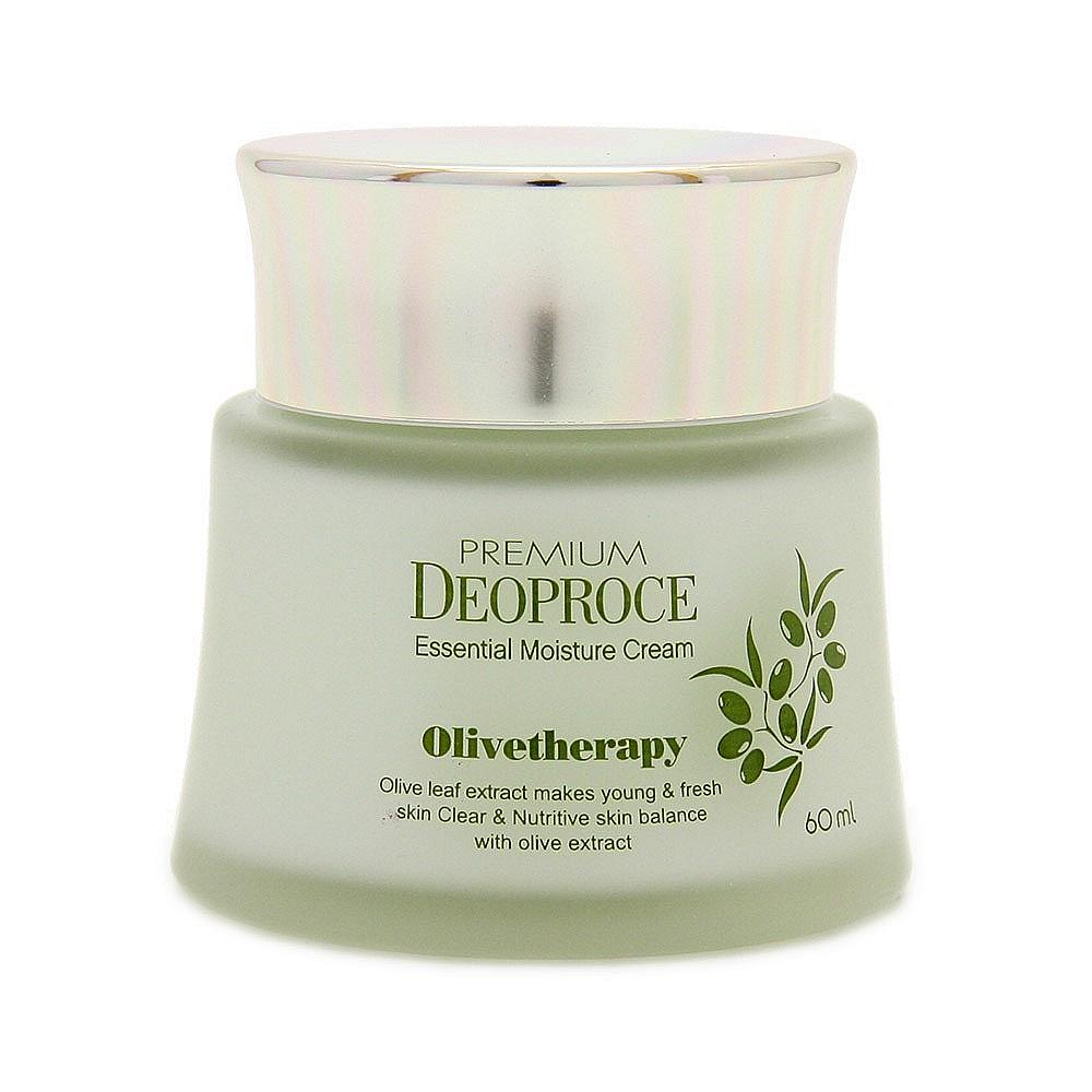 крем увлажняющий с маслом оливы deoproce premium deoproce olivetherapy moisture creamPremium Deoproce Olivetherapy Essential Moisture Cream. Крем увлажняющий с маслом оливы<br><br>Крем для лица с маслом оливы, интенсивно питает и увлажняет кожу, защищает от внешних факторов (солнца, ветра, мороза), предотвращает процессы старения. Содержит мононенасыщенные жирные кислоты, флавоноиды, каротин, токоферолы, фосфолипиды и хлорофилл, комплекс витаминов A, C, D, E, F, K, группы B. <br><br>&amp;nbsp;<br><br>Великолепно защищает кожу от воздействия УФ-лучей, нейтрализует действие свободных радикалов, предохраняет от обветриваний, нормализует кислородный обмен и питание кожи.<br><br>&amp;nbsp;<br><br>Регулярное использование делает кожу, мягкой и нежной.<br><br>&amp;nbsp;<br><br>Применение: Равномерно наносите крем на кожу лица и шеи массажными движениями утром и вечером.<br><br>&amp;nbsp;<br><br>Объем: 60мл<br>