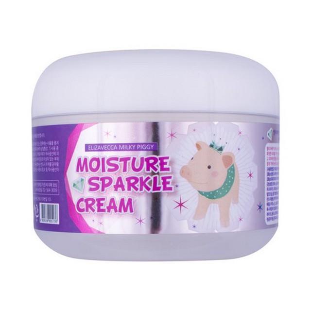крем увлажняющий с эффектом сияния elizavecca moisture sparkle creamУ многих кореянок нежная, гладкая, сияющая кожа, похожая на жемчужину. И все это благодаря специальным уходовым средствам. Крем Moisture Sparkle Cream с легкой текстурой и тонким цветочным ароматом позволит добиться именно такого эффекта.<br><br>Крем увлажняет кожу, благодаря чему она разглаживается, наполняется силой, а также выравнивает ее тон, дарит естественное сияние.<br><br>В составе крема мощный осветляющий и обновляющий компонент – ниацинамид, который способствует осветлению пигментных пятен, корректирует неровный тон кожи и смягчает следы постакне и поствоспалительную гиперпигментацию. Обеспечивает мощное клеточное обновление кожи: он увеличивает синтез коллагена, керамидов и жирных кислот в поверхностном слое кожи, предотвращает потерю влаги, благодаря чему улучшается внешний вид сухой или поврежденной кожи, исчезают шелушения, восстанавливается однородность и целостность кожного покрова.<br><br>Является сильным антиоксидантом, защищающим кожу от агрессивного воздействия ультрафиолета и свободных радикалов.<br><br>Алмазный порошок придает коже изысканное натуральное свечение, а также обладает высокой эффективностью против старения кожи, поэтому является мощным anti-age компонентом.<br><br>Крем может использоваться как уходовое средство, завершающим этапом, или в качестве основы под макияж.<br><br>Подходит для любого типа кожи. При регулярном применении осветляет пигментацию, следы от постакне, способствует разглаживанию морщин и повышению упругости кожи.<br><br>Способ применения: Нанести крем на очищенную кожу лица.<br><br>Вес: 100 г<br><br>Вес г: 100.00000000