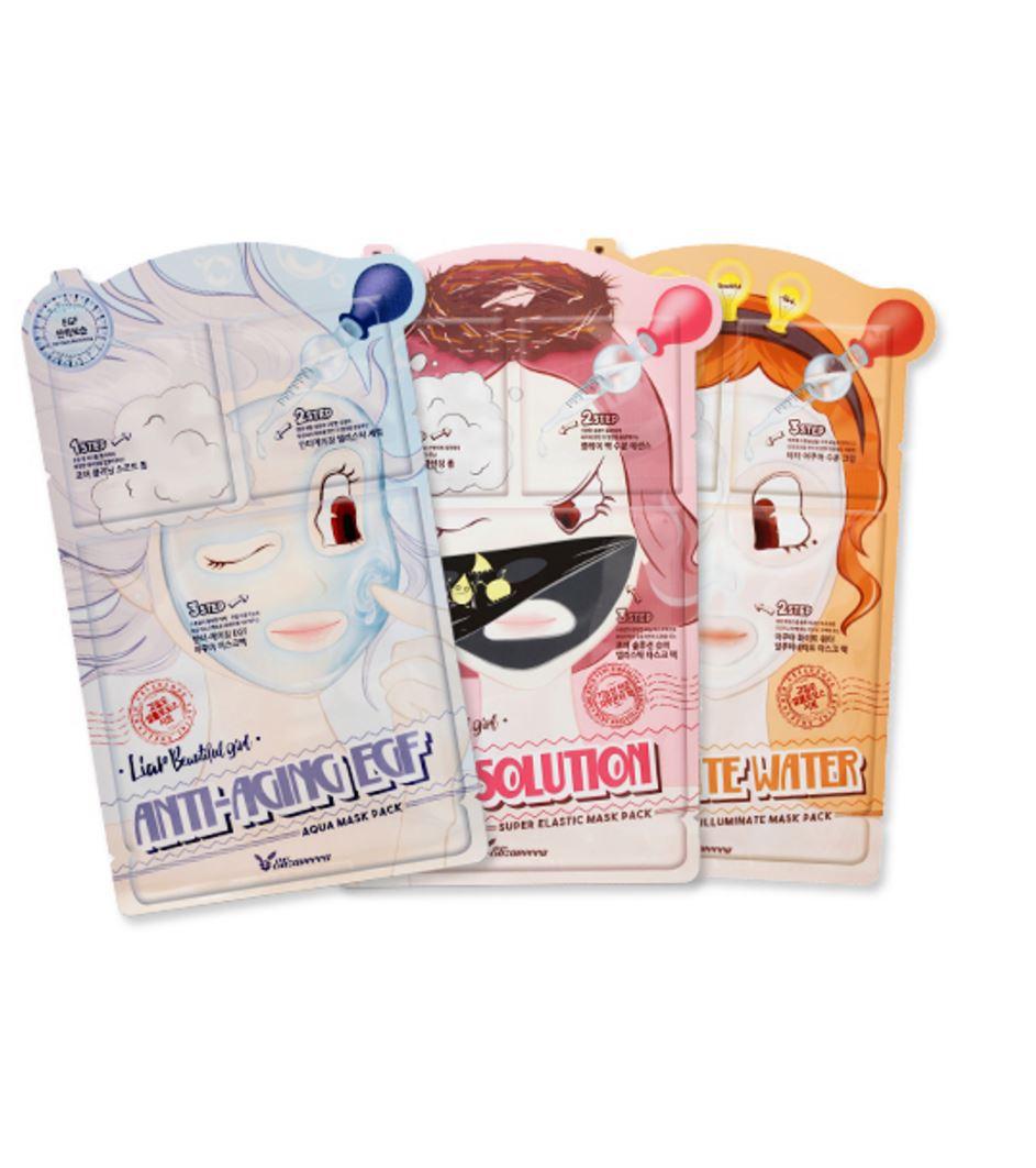 3-шаговая маска для лица elizavecca 3-step mask pack3-step mask pack. 3-шаговая маска для лица<br><br>Всего 3 шага на пути к чистой и светлой коже, мягкой и гладкой, упругой и эластичной. Наборы от Elizavecca, состоящие из 3 средств, предназначены для экспресс-ухода за кожей.<br><br>В каждом наборе пенка по типу кожи, интенсивная эссенция для решения различных проблем, а также непосредственно сама тканевая маска, которая также позволяет справиться с различными несовершенствами, такиими как: сухость, шелушения, пигментация или расширенные поры и комедоны.<br><br>Наборы представлены в 3 вариантах:<br><br><br>01. Elizavecca 3-Step Anti-Aging EGF Mask Pack – 3-шаговая, маска антивозрастная для зрелой кожи<br><br><br>Содержит уникальный компонент EGF – эпидермальный фактор роста, который способствует регенерации клеток эпидермиса и позволяет сохранять их молодость. Этот компонент существенно замедляет процесс старения кожи, защищает ее от повреждений и раздражения, улучшает ее цвет и текстуру. При регулярном применении кожа вновь обретает упругость и эластичность, её цвет улучшается, пигментные возрастные пятна становятся меньше и гораздо светлее.<br><br><br>02. Elizavecca 3-Step Pore Solution Mask Pack – 3-шаговая, маска для проблемной кожи<br><br><br>Черная маска – для светлой кожи. Тщательное очищение, интенсивное воздействие на кожу и завершающий штрих – тканевая маска, успокаивающая и оздоравливающая кожу. Комплекс средств способствует очищению пор от загрязнений, а затем сужению чистых пор, регулирует работу сальных желез и контроилрует выработку излишков кожного себума, предупреждает появление жирного блеска, оказывает противовоспалительное и ранозаживляющее действие.<br><br><br>03. Elizavecca 3-Step Aqua White Water Mask Pack – 3-шаговая, маска увлажняющая<br><br><br>Увлажнение кожи – не только на поверхности, но и в глубоких слоях – залог гладкой, свежей и молодой кожи. Напитанная влагой кожа буквально наполняеся объемом, расправляется, разглаживается. Кроме тог