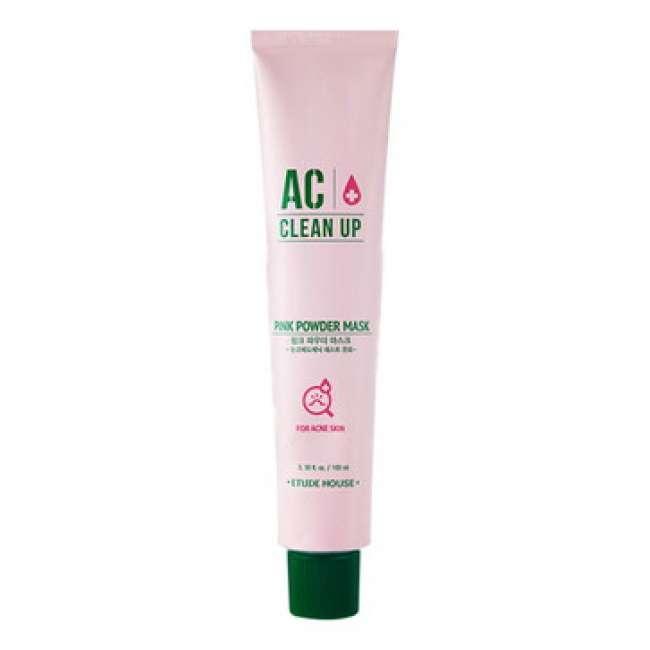 маска для проблемной кожи с розовой глиной etude house  ac clean up pink powder mask