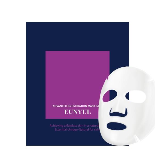 увлажняющая маска с пантенолом eunyul advanced b5 hydration mask packAdvanced B5 Hydration Mask pack. Увлажняющая маска с пантенолом<br><br>Увлажняющая маска напоит влагой вашу кожу. Поможет ей в этом пантенол (или провитамин В5), который повышает защитные функции кожи и предотвращает обезвоживание.<br><br>Мгновенно наполняет влагой кожу и смягчает. Кожа получает заряд влаги и энергии.<br><br>Применение: на очищенную кожу нанести маску, оставить для воздействия на 15-20 минут, затем маску снять, а остаткам эссенции дать впитаться.<br><br>Вес: 5 г<br><br>Вес г: 5.00000000