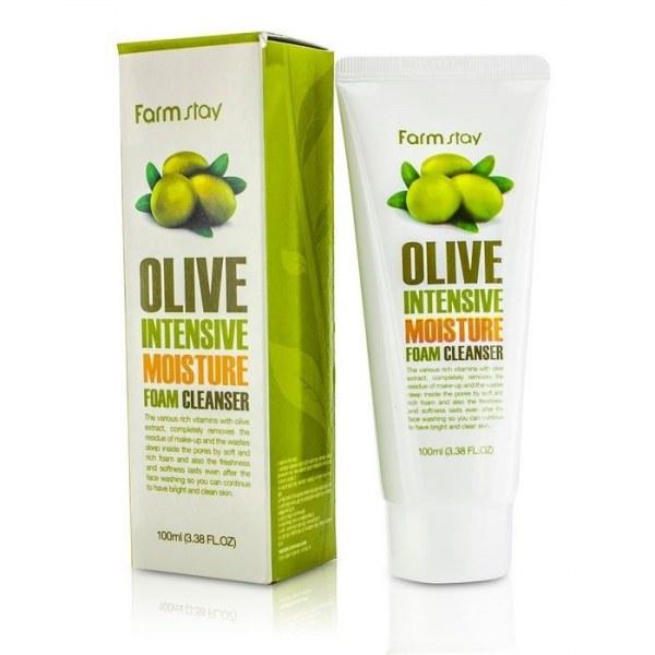пенка очищающая с экстрактом оливы увлажняющая farmstay olive intensive moisture foam cleanserПенка для умывания Olive Intensive Moisture Foam Cleanser полностью удаляет остатки макияжа, глубоко очищает поры, не сушит кожу, придает ей упругость и здоровый внешний вид. Содержит в составе экстракт оливы, алоэ, гиалуроновую кислоту, масло ши, коллаген и аллантоин.<br><br>Витамин Е помогает восстановить сухую поврежденную кожу. Миристиновая и стеариновая кислоты, содержащиеся в пенке, проникают в глубину пор и очищают их, не вызывая кожного раздражения. Структура пенки схожа с кремом, поэтому кожа всегда будет увлажненной и мягкой. Подходит для кожи сухого типа.<br><br>Способ применения: Выдавите необходимое количество средства на ладонь, нанесите на лицо и распределите его легкими круговыми движениями до образования пены. Смойте прохладной водой.<br><br>Объем: 100 мл<br><br>Характеристики товара:<br><br><br><br><br>Тип кожи<br><br>для всех типов; комбинированная; нормальная; сухая; тусклая; чувствительная; увядающая<br><br><br><br>Функции<br><br>восстановление и регенерация; выравнивание тона; очищение пор; питание; повышение упругости; улучшение цвета лица<br><br><br><br>Несовершенства<br><br>покраснения; расширенные поры; сухость и обезвоживание; тусклый цвет лица; черные точки; шелушения<br><br><br><br><br>&amp;nbsp;<br><br>Вес г: 100.00000000