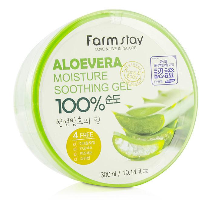 многофункциональный смягчающий гель с экстрактом алоэ farmstay aloe vera moisture soothing gelAloe Vera Moisture Soothing Gel.&amp;nbsp;Многофункциональный смягчающий гель с экстрактом алоэ<br><br>Смягчающий, успокаивающий, восстанавливающий, охлаждающий гель, в основе которого стопроцентный сок алоэ вера.<br><br>Многофункциональное средство прекрасно подойдет как для ухода за лицом: как крем для век, маска или база, а также для ухода за телом.<br><br>&amp;nbsp;<br><br>Гель ожет применяться и как маска для волос, и как успокаивающее кожу средство после бритья.<br><br>&amp;nbsp;<br><br>Гель полезен для кожи всех типов, а для сухой и чувствительной особенно, рекомендован как ежедневное средство.<br><br>&amp;nbsp;<br><br>Средство будет полезным и в лечении солнечных ожогов.<br><br>&amp;nbsp;<br><br>Органический сок алоэ впитывается в кожу полностью, успокаивает её, действует изнутри, богат витаминами. Мощные увлажняющие свойства алоэ предотвращают появление шелушений и раздражений.&amp;nbsp;<br><br>&amp;nbsp;<br><br>Средство прекрасно лечит воспаления, благотворно действует на волосы, укрепляет и стимулирует их рост при использовании в качестве маски для волос.<br><br>&amp;nbsp;<br><br>Витамины органического сока алоэ, прежде всего витамин Е действуют как естественные антиоксиданты, подавляют процессы преждевременного увядания, укрепляют иммунитет.&amp;nbsp;<br><br>Способ применения: Нанесите необходимое количество геля на кожу или волосы. Дайте впитаться.<br>&amp;nbsp;<br>Меры предосторожности: Хранить в сухом месте, в местах недоступных для детей, избегать попадания в глаза. При выявлении каких-либо реакций и симптомов, а также аллергической реакции немедленно прекратите использование продукта, проконсультируйтесь у дерматолога при осложнениях.<br><br>Объем:&amp;nbsp;200; 300 мл<br>