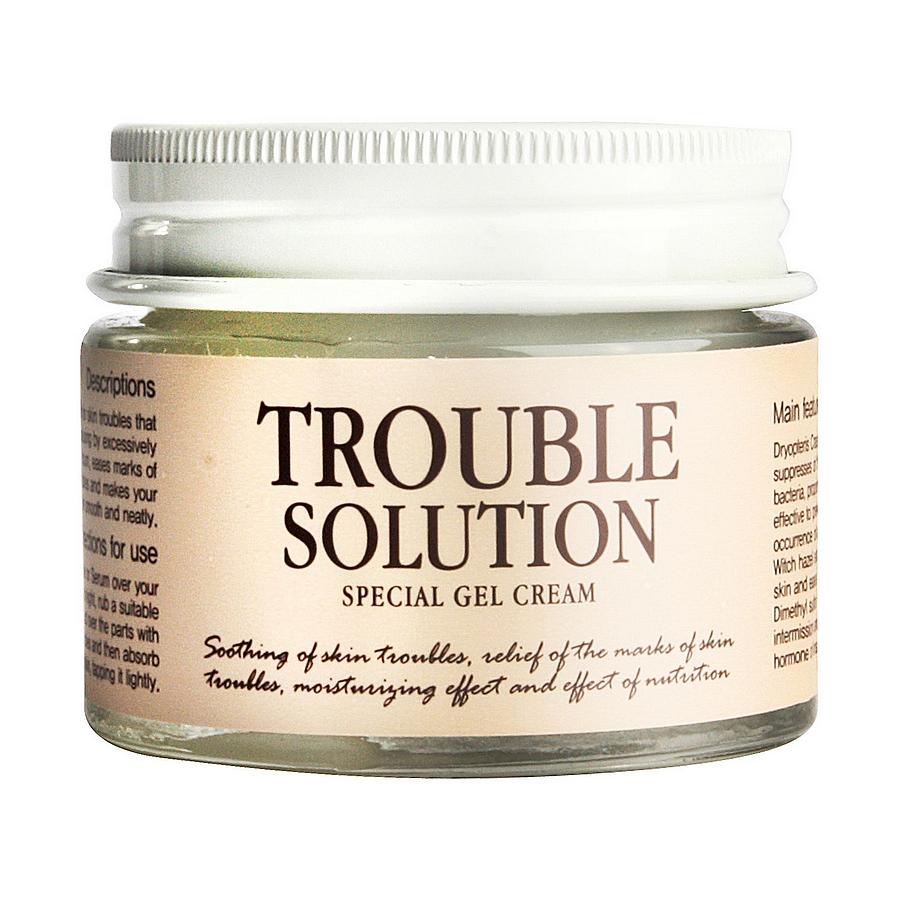 гель-крем graymelin trouble solution special gel creamTrouble Solution Special Gel Cream. Гель-крем.<br><br>Серия средств &amp;nbsp;для проблемной кожи лица Trouble Solution Special содержит комплекс растительных экстрактов, которые эффективно борются с воспалениями. <br><br>Экстракт листьев алоэ интенсивно увлажняет и успокаивает чувствительную проблемную кожу. <br><br>Сок кипарисовика туполистного обладает антибактериальным и очищающим действием. Он содержит большой процент минералов и витаминов и насыщает кожу полезными элементами. Бета-глюкан повышает кожный иммунитет и препятствует развитию воспалений.<br><br>&amp;nbsp;<br><br>Гель-крем смягчает и увлажняет кожу, препятствуя развитию воспалений. Средство на 80% состоит из растительных компонентов и минимизирует риск развития аллергических реакций и появление раздражений.<br><br>&amp;nbsp;<br><br>Применение:&amp;nbsp;После применения тоника и сыворотки равномерно распределите необходимое количество крема по коже лица массирующими движениями.<br><br>При нанесении уделите особое внимание участкам кожи с наиболее выраженными проблемами: воспаления, шрамы.<br><br>&amp;nbsp;<br><br>Меры предосторожности: &amp;nbsp;Не используйте на поврежденной коже. &amp;nbsp;При появлении следующих симптомов прекратите использование: раздражение, сыпь, покраснение, зуд. При попадании в глаза, немедленно промойте теплой водой.<br><br>&amp;nbsp;<br><br>Состав: Chamaecyparis Obtusa Water, Aloe Barbadensis Leaf Extract, Butylene Glycol,Glycerin,Water,1,2-Hexanediol,Acrylates/C10-30 Alkyl Acrylate Crosspolymer,Arginine,Betaine,Polyglyceryl-4 Caprate, Caprylyl Glycol, Dryopteris Crassirhizoma Extract, Lactobacillus/Soybean Ferment Extract, Salix Alba (Willow) Bark Extract, Origanum Vulgare Leaf Extract, Portulaca Oleracea Extract, Chamaecyparis Obtusa Leaf Extract, Scutellaria Baicalensis Root Extract, Cinnamomum Cassia Bark Extract, Beta-Glucan, Allantoin, Dipotassium Glycyrrhizate, Aloe Barbadensis Leaf Powder, Fragrance<br><br>Вес г: 