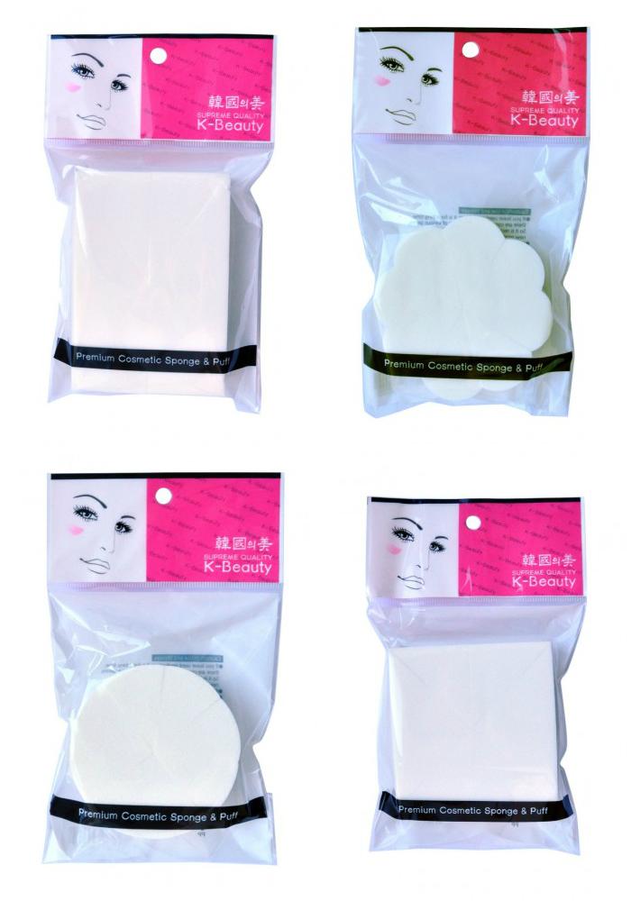спонж косметический 8 сегментов k-beauty premium cosmetic sponge &amp; puffPremium Cosmetic Sponge &amp;amp; Puff. Спонж косметический 8 сегментов<br><br>Косметический спонж предназначен для нанесения тональных средств (корректора, тонального крема, румян, пудры и т.д.), а также коррекции макияжа. Спонж позволяет равномерно распределить не только сухие, но и кремовые текстуры, а его удобная треугольная форма подходит для обработки таких труднодоступных зон, как область вокруг глаз и носогубные складки.<br><br>Упаковка состоит из 8 отрывных сегментов.<br><br>Мягкий и нежный спонж не травмирует, подходит даже для чувствительной кожи.<br><br>Формы:<br><br><br>Прямоугольник<br><br>Цветок<br><br>Круг<br><br>Квадрат<br><br><br>Способ применения: мягко прикоснитесь спонжем к средству, нанесите на лицо и растушуйте. Можно использовать как сухой, так и влажный спонж. По мере загрязнения мойте спонж мылом и сушите вдали от источников тепла. Рекомендуется менять спонж через 1-3 месяца (в зависимости от частоты использования).<br><br>Меры предосторожности: используйте спонж только по назначению. Держите в местах, недоступных для детей.<br><br>Состав: SBR (стирол-бутадиеновая резина).<br><br>Количество: 1 шт<br><br>Вес г: 6.00000000