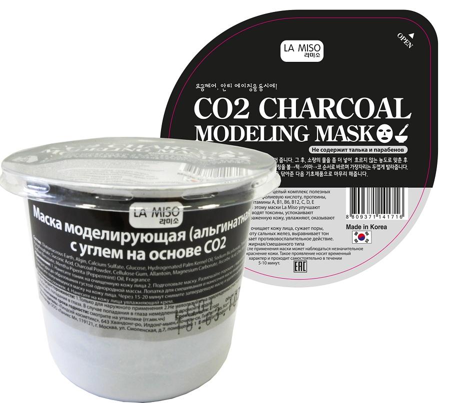 маска моделирующая с углем на основе о2 la miso маска альгинатная с углемАльгинатные маски LaMiso содержат целый комплекс полезных элементов: альгиновую кислоту, фолиевую кислоту, протеины, минеральные элементы, витамины A, B1, B6, B12, C, D, Eполисахариды. Благодаря этому маски LaMiso улучшают обменные процессы, выводят токсины, успокаивают покрасневшую и раздраженную кожу, увлажняют, оказывают эффект лифтинга. Маска интенсивно очищает кожу лица, сужает поры, регулирует работу сальных желез, выравнивает тон кожи, оказывает противовоспалительное действие. Тип кожи: жирная/смешанного типа<br><br>&amp;nbsp;<br><br>Состав:&amp;nbsp;DiatomaceousEarth, Algin, CalciumSulfate, Glucose, HydrogenatedPalmKernelOil, SodiumBicarbonate, TetrapotassiumPyrophosphate, SuccinicAcid, CharcoalPowder, CelluloseGum, Allantoin, MagnesiumCarbonate, AscorbicAcid, CitricAcid, CI77499, SodiumBenzoate, MenthaPiperita (Peppermint) Oil, Fragrance<br><br>&amp;nbsp;<br><br>Применение:<br><br>1. Нанесите тоник на очищенную кожу лица<br><br>2. Подготовьте маску. Размешайте порошок с водой комнатной температуры до образования густой однородной массы. Лопатка для смешивания и нанесения маски входит в набор.<br><br>3. Нанесите получившуюся маску на кожу лица. Через 15-20 минут снимите затвердевшую маску и удалите остатки тоником или влажным спонжем.<br><br>4. Нанесите на кожу лица увлажняющий крем.<br><br>&amp;nbsp;<br><br>Меры предосторожности:<br><br>1. Только для наружного применения <br><br>2. Не используйте на поврежденных участках кожи<br><br>3. Избегайте попадания в глаза. В случае попадания в глаза немедленно промойте водой.<br><br>Вес г: 28.00000000