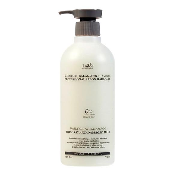 шампунь для волос увлажняющийMoisture Balancing Shampoo. Шампунь для волос увлажняющий<br><br>Средства для ухода за волосами и кожей головы от La'dor – это профессиональные линии, сочетающие традиции восточной медицины с передовыми разработками корейских ученых. Прежде всего, средства Lador предназначены для поврежденных волос. Инновационная формула средств воссоздает первоначальную целостность волос, способствует восстановлению гидролипидной оболочки волосяных стержней, которая служит естественной защитой здоровых волос.<br><br>&amp;nbsp;<br><br>Глубокое очищение волос и кожи головы обеспечивает профессиональный безсиликоновый шампунь. Предназначен для сухих и поврежденных волос.<br><br>&amp;nbsp;<br><br>Шампунь прекрасно справляется с решением различных проблем кожи головы и волос: увлажняет и успокаивает, снимает зуд и раздражения кожи, предупреждает появление перхоти, восстанавливает и укрепляет волосы. Кроме того, шампунь предупреждает вымывание цвета окрашенных волос, устраняет пористость и секущиеся кончики.<br><br>&amp;nbsp;<br><br>В составе шампуня инновационный запатентованный комплекс GREENOL, который оказывает мощное антиоксидантное действие, защищает кожу и волосы от разрушения свободными радикалами, а также минимизирует агрессивное воздействие внешних факторов.<br><br>&amp;nbsp;<br><br>Органические экстракты лаванды, бергамота, фрезии, ромашки, розмарина и мыльнянки увлажняют и успокаивают, оказывают противовоспалительное действие, освежают и придают волосам восхитительный объем.<br><br>&amp;nbsp;<br><br>Способ применения: Нанести шампунь на влажные волосы, вспенить и помассировать, затем смыть теплой водой.<br><br>&amp;nbsp;<br><br>Объём: 530 мл<br><br>&amp;nbsp;<br>