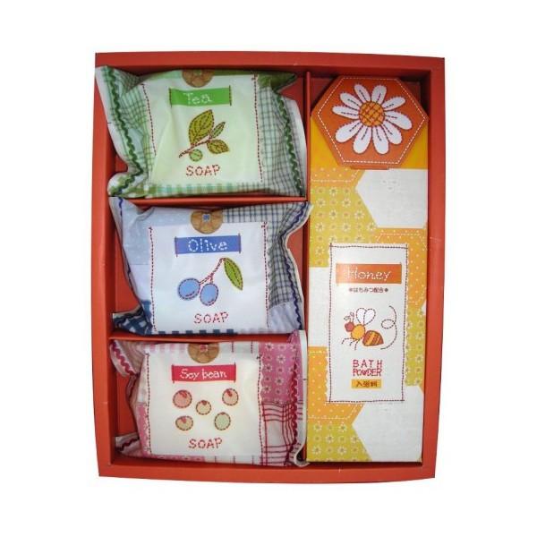 """набор подарочный """"спокойная жизнь"""" (средний) master soap yuttari life set middleYuttari Life Set Middle. Набор подарочный """"Спокойная жизнь"""" (средний) состоит из мыла: Соевые бобы, Зеленый чай, Олива и пудры для ванны с медом.<br>&amp;nbsp;<br><br>&amp;nbsp;&amp;nbsp; 1. Косметическое туалетное мыло Соевые бобы<br><br>Мыло прекрасно очищает. Мыльная основа содержит только натуральные растительные компоненты.<br>За счет входящих в состав увлажняющих компонентов (пальмовое масло, экстракт соевых бобов, сквалан) предотвращает сухость и шелушение, великолепно смягчает кожу, делая ее гладкой и здоровой.<br><br>Меры предосторожности: не использовать при появлении покраснений, зуда, раздражения кожи. В случае возникновения аллергических реакций, прекратите использование мыла и проконсультируйтесь с дерматологом.<br><br>Состав: мыльная основа, вода, пальмовая жирная кислота, пальмоядровая жирная кислота, глицерин, хлорид натрия, этидронат 4Na, EDTA-4Na, сквалан, экстракт соевых бобов, BG, парфюмерная отдушка, оксид титана, краситель жёлтый 401.<br><br>&amp;nbsp;&amp;nbsp; 2. Косметическое туалетное мыло Зеленый чай<br><br>Мыло прекрасно очищает. Мыльная основа содержит только натуральные растительные компоненты.<br>За счет входящих в состав увлажняющих компонентов (пальмовое масло, экстракт зеленого чая, сквалан) предотвращает сухость и шелушение, великолепно смягчает кожу, делая ее гладкой и здоровой.<br><br>Меры предосторожности: не использовать при появлении покраснений, зуда, раздражения кожи. В случае возникновения аллергических реакций, прекратите использование мыла и проконсультируйтесь с дерматологом.<br><br>Состав: мыльная основа, вода, пальмовая жирная кислота, пальмоядровая жирная кислота, глицерин, хлорид натрия, этидронат 4Na, EDTA-4Na, сквалан, экстракт зелёного чая, этанол, парфюмерная отдушка, оксид титана, слюда, краситель синий 404, краситель жёлтый 205.<br>Обладает легким ароматом зеленого чая<br><br>&amp;nbsp;&amp;nbsp; 3. Косметическое туалетное мыло Оли"""