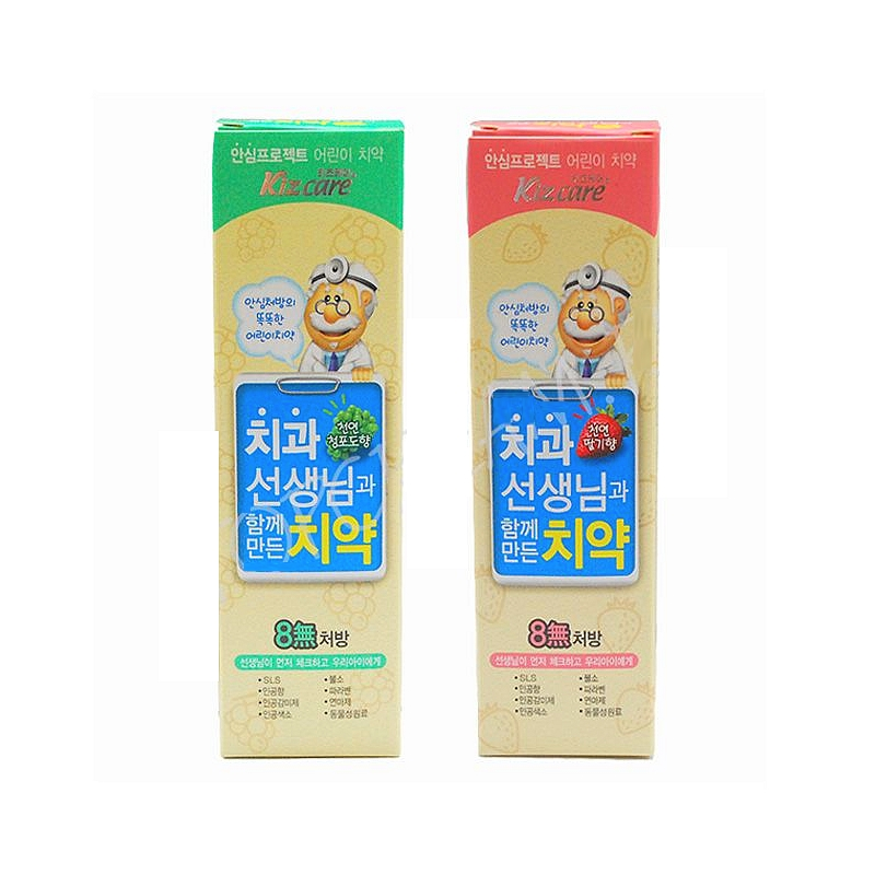 детская зубная паста без sls, фтора, парабенов • mukunghwa kizcare 8-none toothpaste