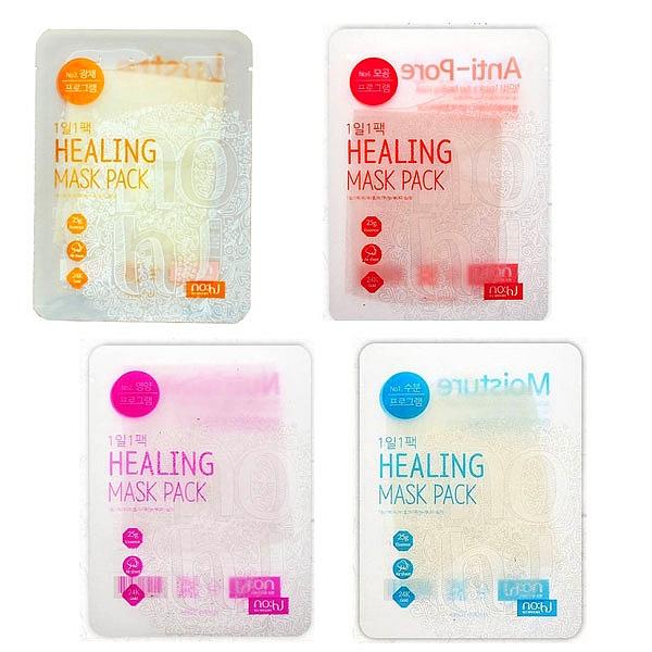 маска для лица  no:hj healing mask pack