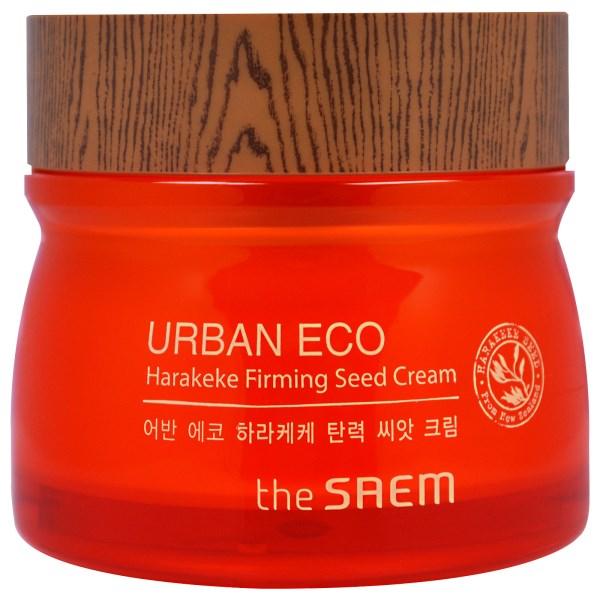 крем с экстрактом новозеландского льна the saem urban eco harakeke firming seed creamВосстанавливающий крем для лица с экстрактом новозеландского льна от бренда The Saem обеспечивает правильный уход и обладает общеукрепляющим действием. Глубоко проникая в кожные ткани, крем ускоряет выработку эластина и коллагена, запускает самообновление и самоомоложение кожи.<br><br>Экстракт новозеландского льна придает коже нежнейшую мягкость, свежесть, успокаивает ее. Ряд других, необходимых для здоровья кожи компонентов, обеспечивает его эффективное действие уже после первого использования. Мед питает кожу полезным минерально-витаминным комплексом, способствует устранению воспалений, грибков, вирусов, а также борется с бактериями.<br><br>Запатентованная безводная формула с комплексом натуральных компонентов (мёд, экстракты календулы, лаванды, бергамота, фрезии и др.)&amp;nbsp;<br><br>Благоприятно воздействует абсолютно на каждый тип кожи – дарит увлажнение сухой коже, снимает раздражения чувствительной, ликвидирует воспаления жирной кожи. Экстракты лаванды, календулы, мяты, ромашки, бергамота, фрезии, розмарина благодаря комплексному действию, обладают омолаживающим эффектом, глубоко очищают, тонизируют кожу, а кроме того, способствуют осветлению и исчезновению пигментных пятен.<br><br>Пантенол укрепляет кожные ткани, способствует ускорению восстановительных процессов в клетках. Аденозин стабилизирует микро-циркуляцию, обмен веществ, регенерацию.<br><br>Текстура крема нежная, мягкая, позволяет ему идеально ложиться на кожу и в считанные мгновения впитываться, не создавая эффекта пленки.<br><br>Способ применения: Нанести крем массирующими движениями на очищенную кожу лица.<br><br>Объём: 80мл<br>
