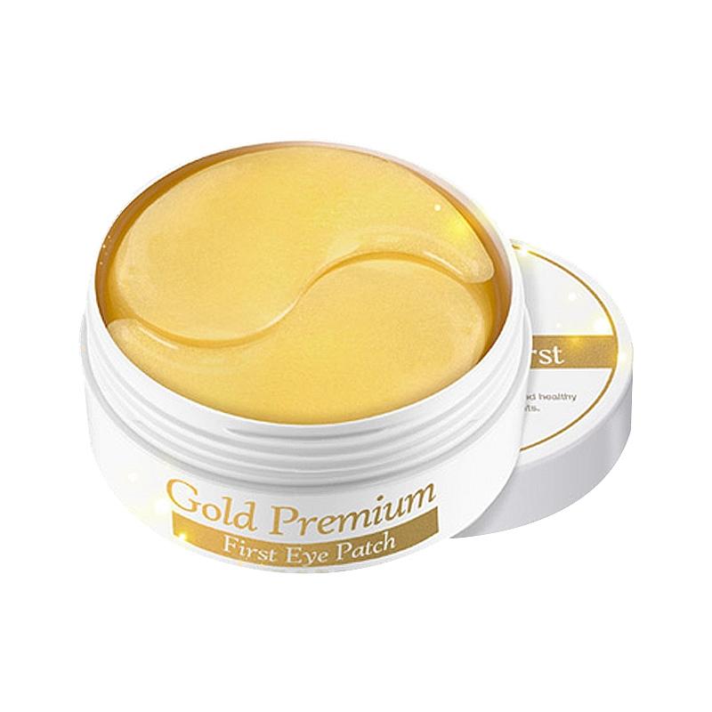 патчи для глаз с золотом secret key gold premium first eye patchGold Premium First Eye Patch. Патчи для глаз с золотом - роскошный уход за кожей вокруг глаз.<br><br>Патчи с содержанием драгоценных частиц золота позволяют в достаточно короткие сроки сделать кожу светлее, моложе, наполнить ее естественным сиянием.<br><br>Золото способствует быстрому проникновению в кожу молекул кислорода, что необходимо для ее восстановления и омоложения. Также золото усиливает циркуляцию крови, что приводит к более эффективному удалению токсинов и шлаков, кожа постоянно обновляется на клеточном уровне. <br><br>Патчи SECRET KEY Gold Premium First Eye Patch увлажняют и питают кожу, возвращают ей упругость, оживляют уставшую и тусклую кожу. Пропитанные концентрированной эссенцией патчи разглаживают морщины, устраняют отечность и темные круги под глазами, делают кожу нежной, гладкой и сияющей. <br><br>Патчи под глаза обладают великолепным регенерирующим действием: проникая в глубокие слои кожи частицы золота транспортируют туда и другие активные омолаживающие компоненты. Патчи обладают противовоспалительным и антиоксидантным действием, защищают от агрессивного влияния факторов окружающей среды. <br><br>Патчи можно использовать и на область носогубных складок, чтобы сократить их глубину. <br><br>Способ применения: Нанести патчи на очищенную кожу области глаз, плотно прижав. Через 30-40 минут патчи снять, а остатки эссенции распределить по коже. <br><br>Совет от производителя! Использованные патчи можно растворить в теплой воде и использовать получившуюся жидкость в качества миста. <br><br>Количество: 60 шт.<br>